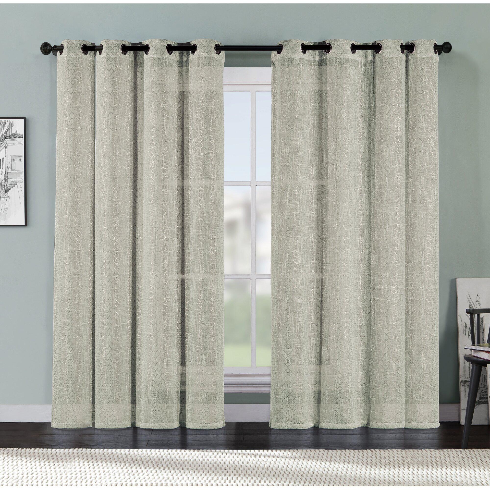 Vcny Ritz Geometric Sheer Grommet Single Curtain Panel Reviews