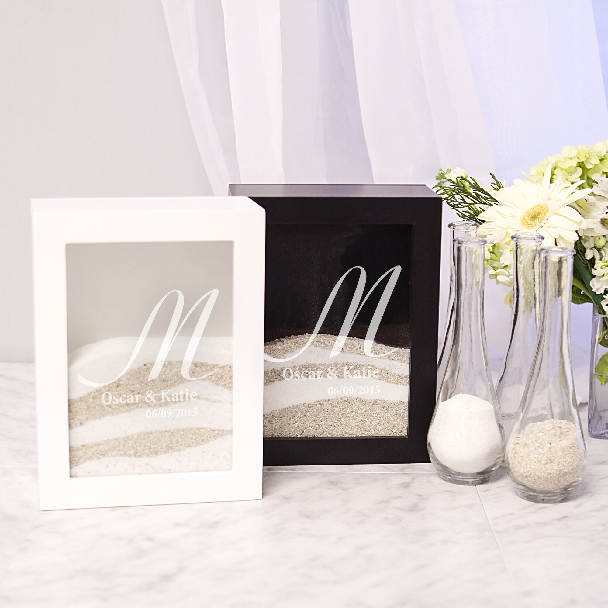 wedding unity sand shadow box