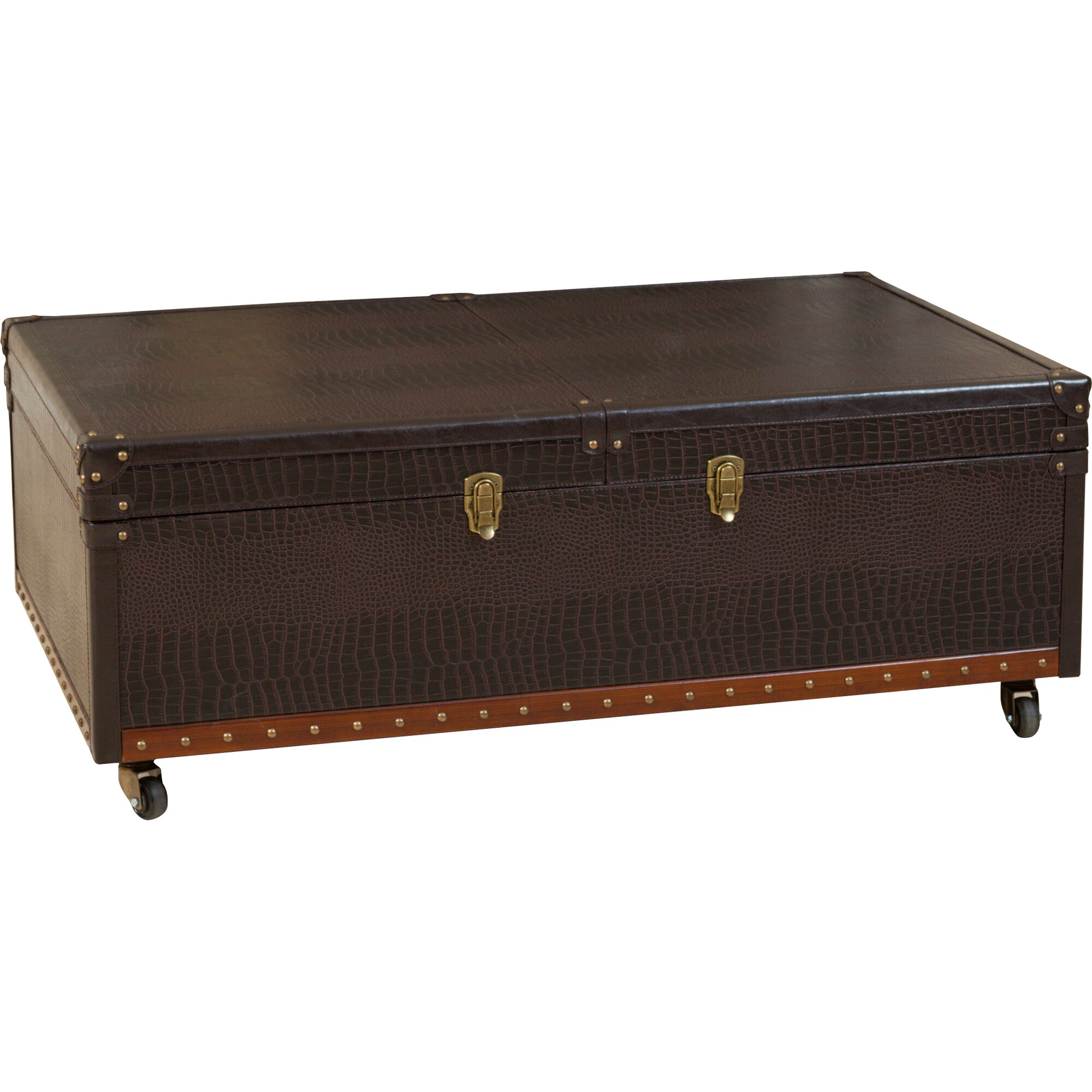 Home Loft Concepts Bowler Trunk And Coffee Table Wayfair