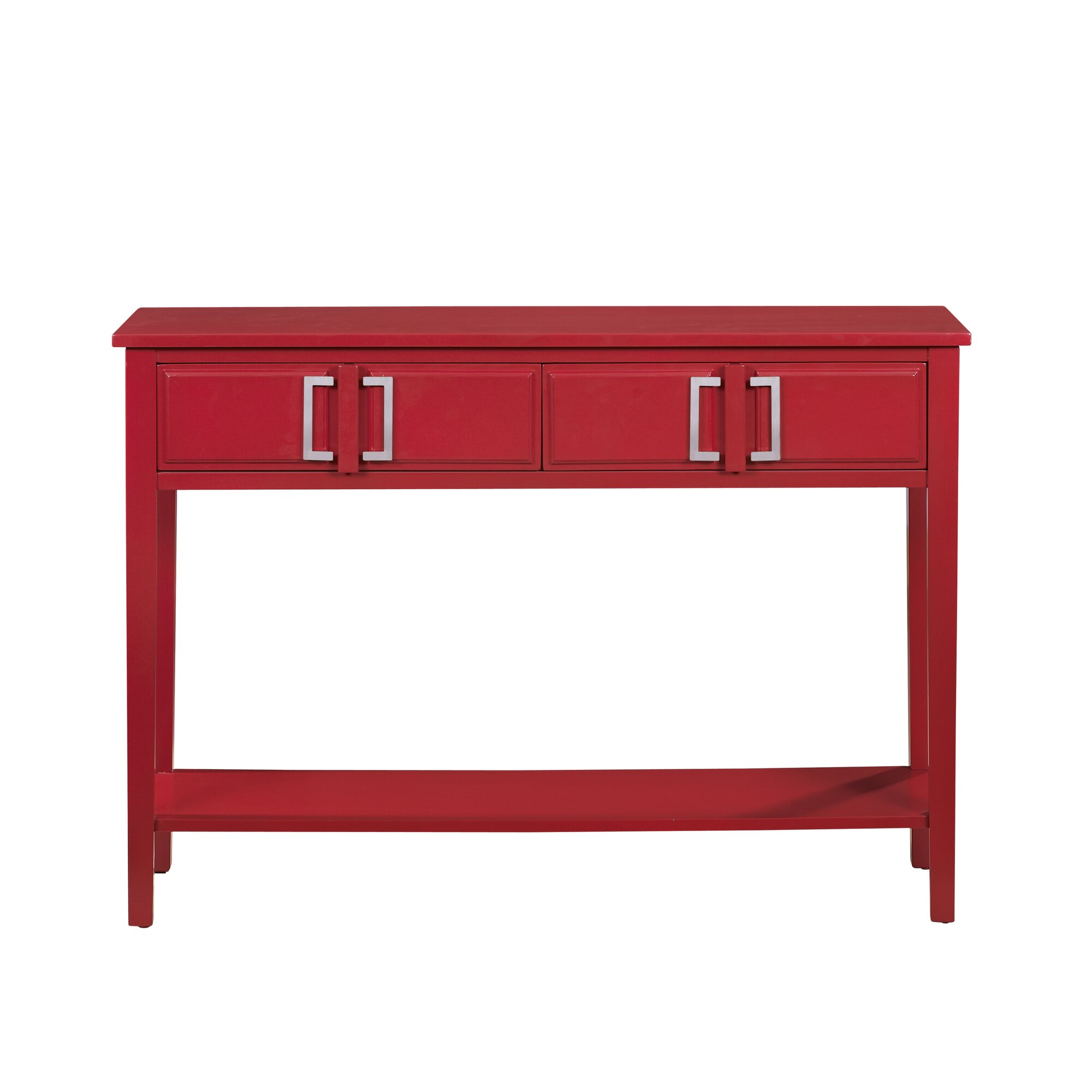 Red Console Table red console table