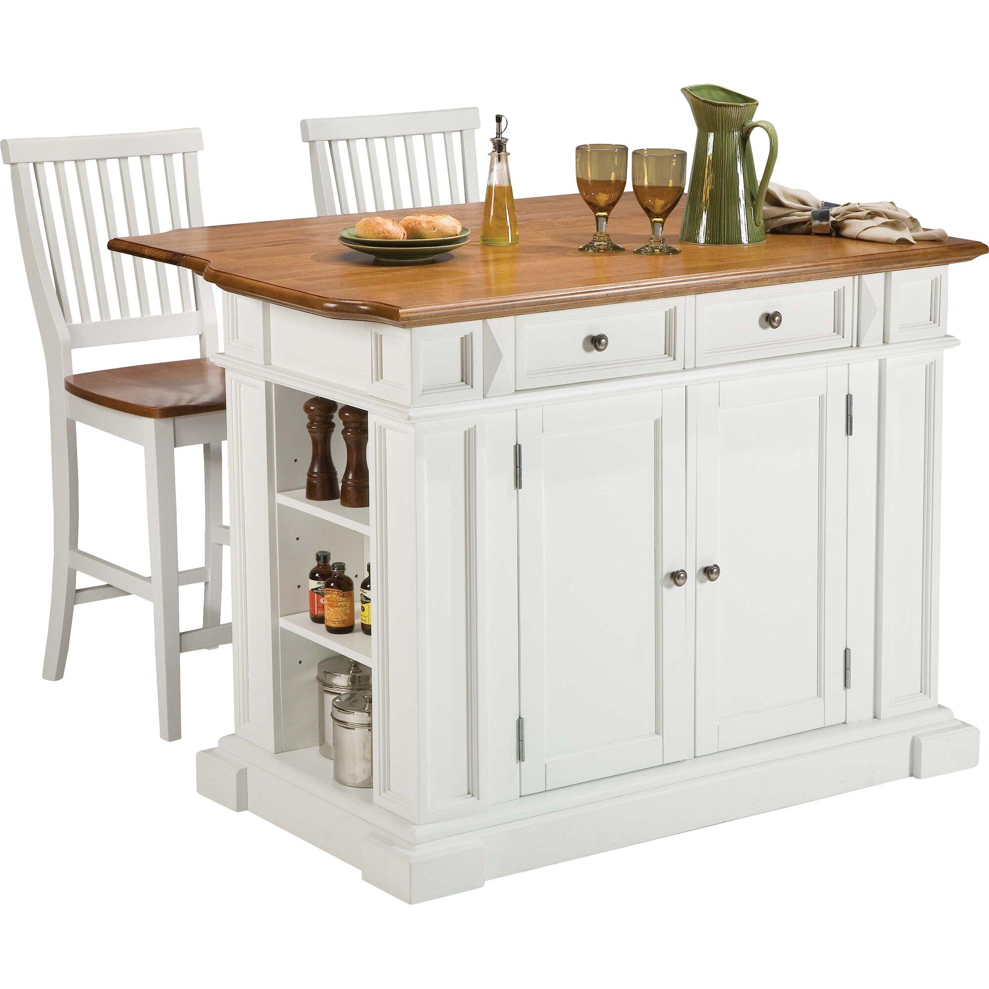 Darby Home Co Mattice 3 Piece Kitchen Island Set & Reviews