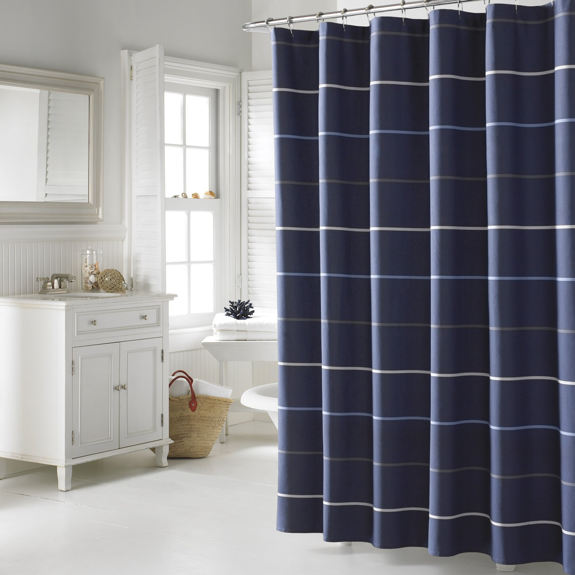 southport cotton shower curtain