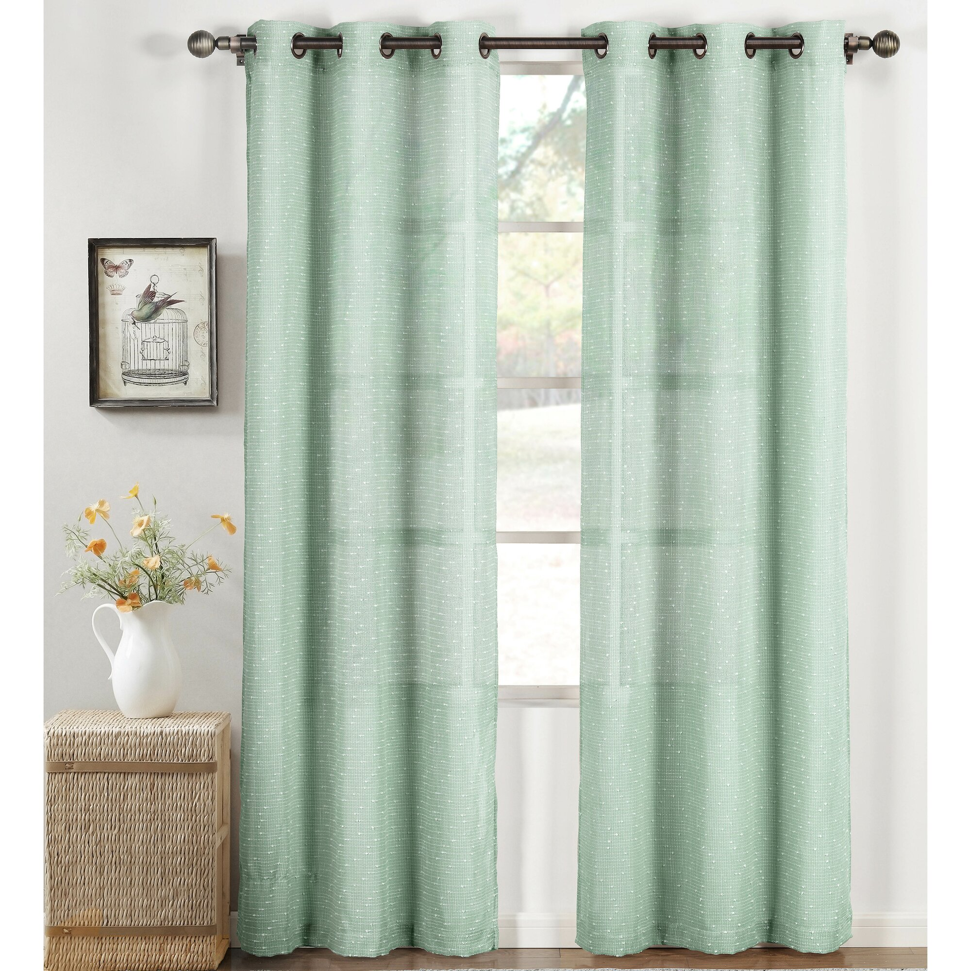 Window Elements Nubby Solid Sheer Curtain Panels Reviews