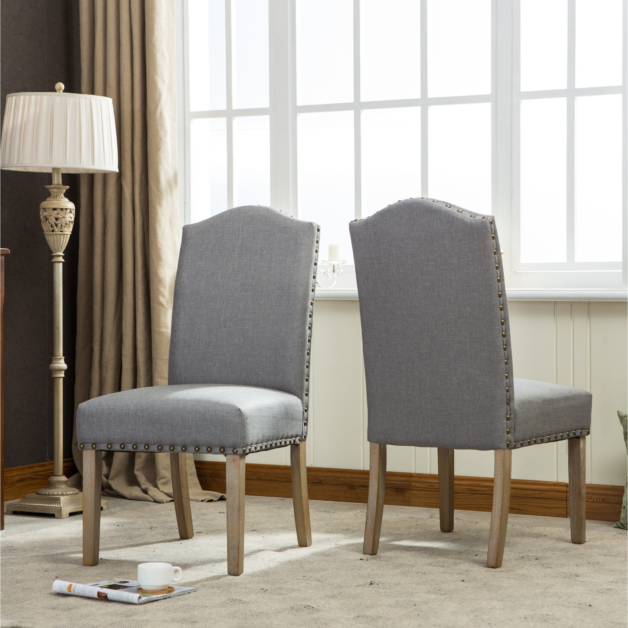 Roundhill furniture mod urban style solid wood nailhead for Urban furniture