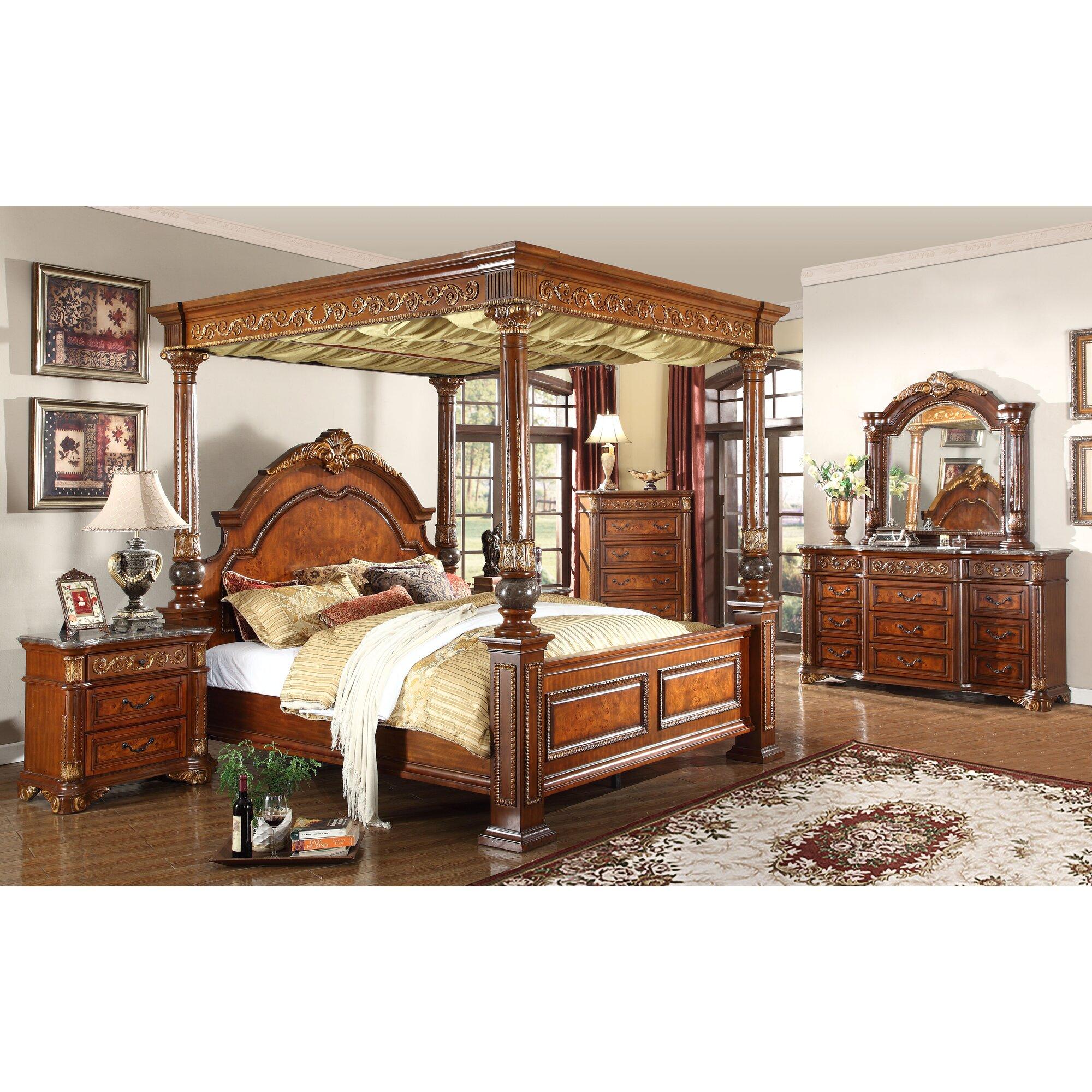 Anella Queen Canopy Bedroom Set