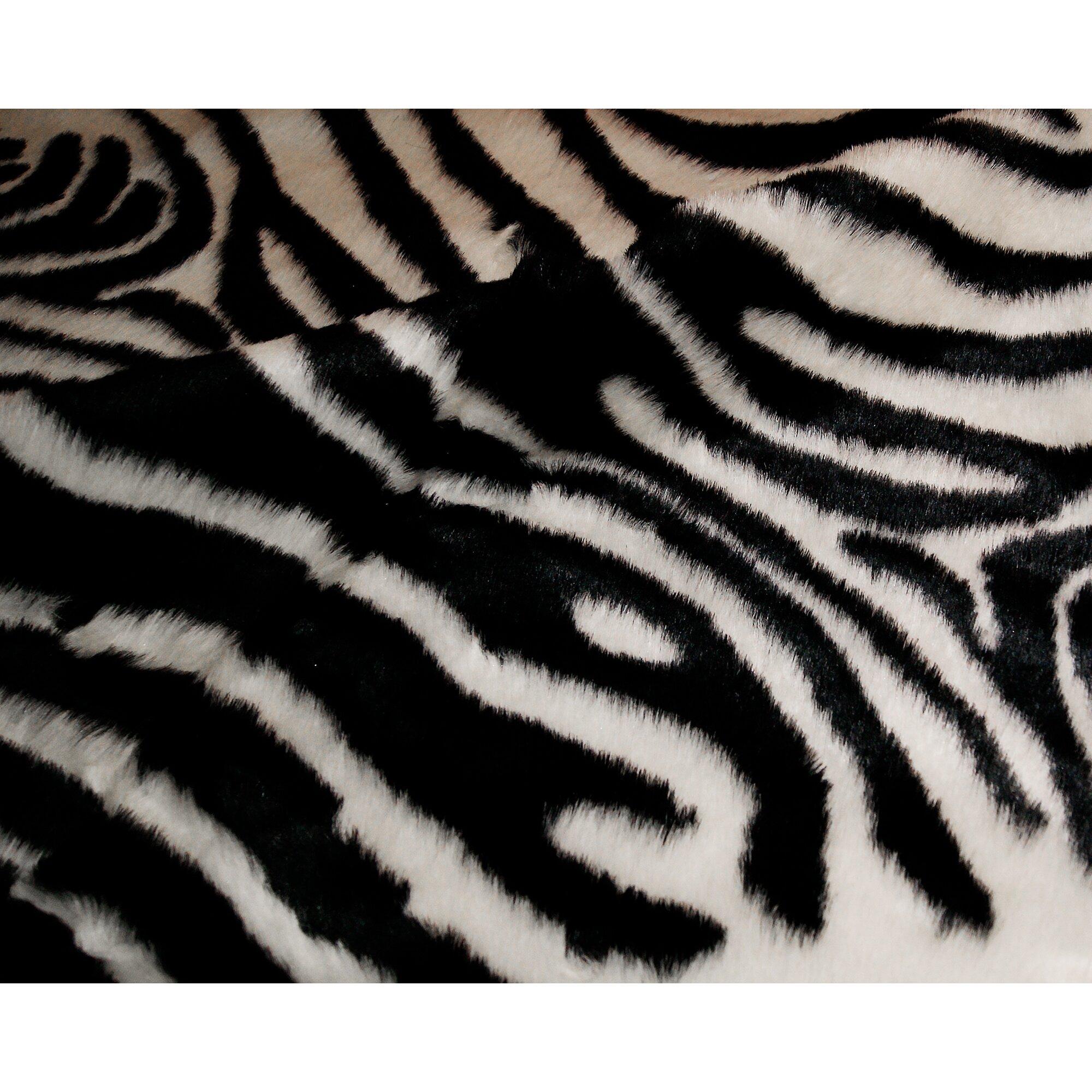 Luxe Zebra Black White Area Rug Reviews