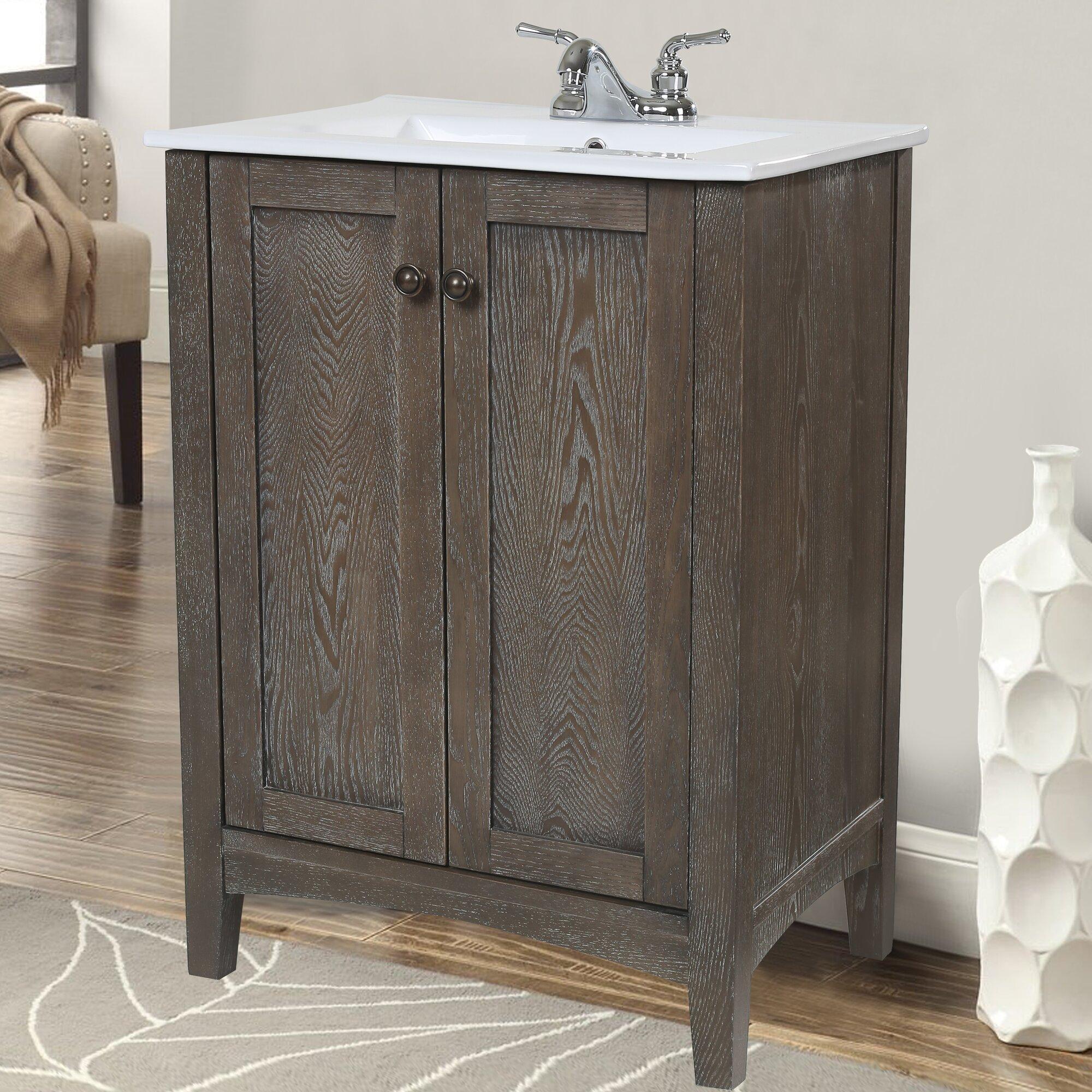 Schrock Bathroom Vanity With Double Sinks