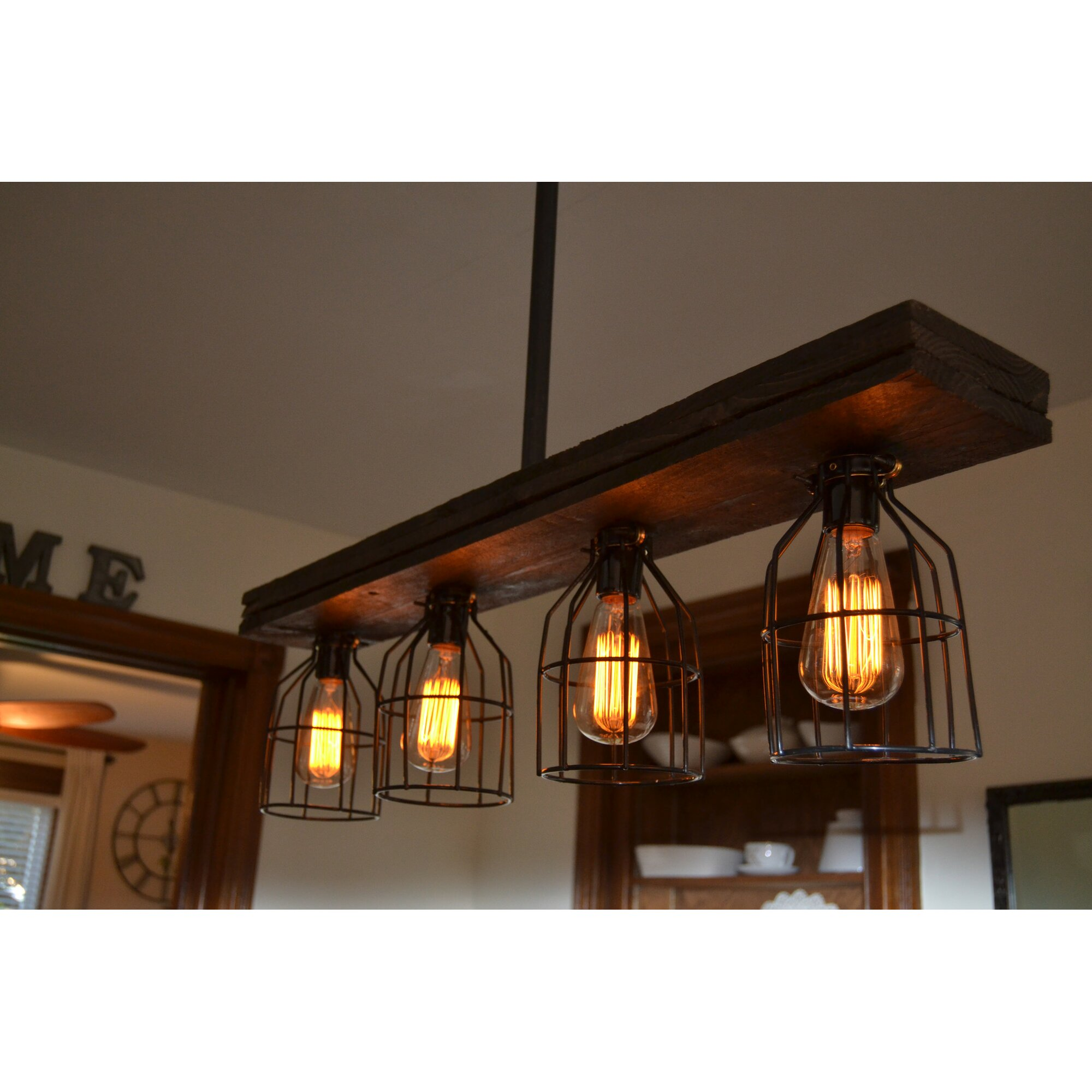 West Ninth Vintage Triple Wood 4-Light Kitchen Island
