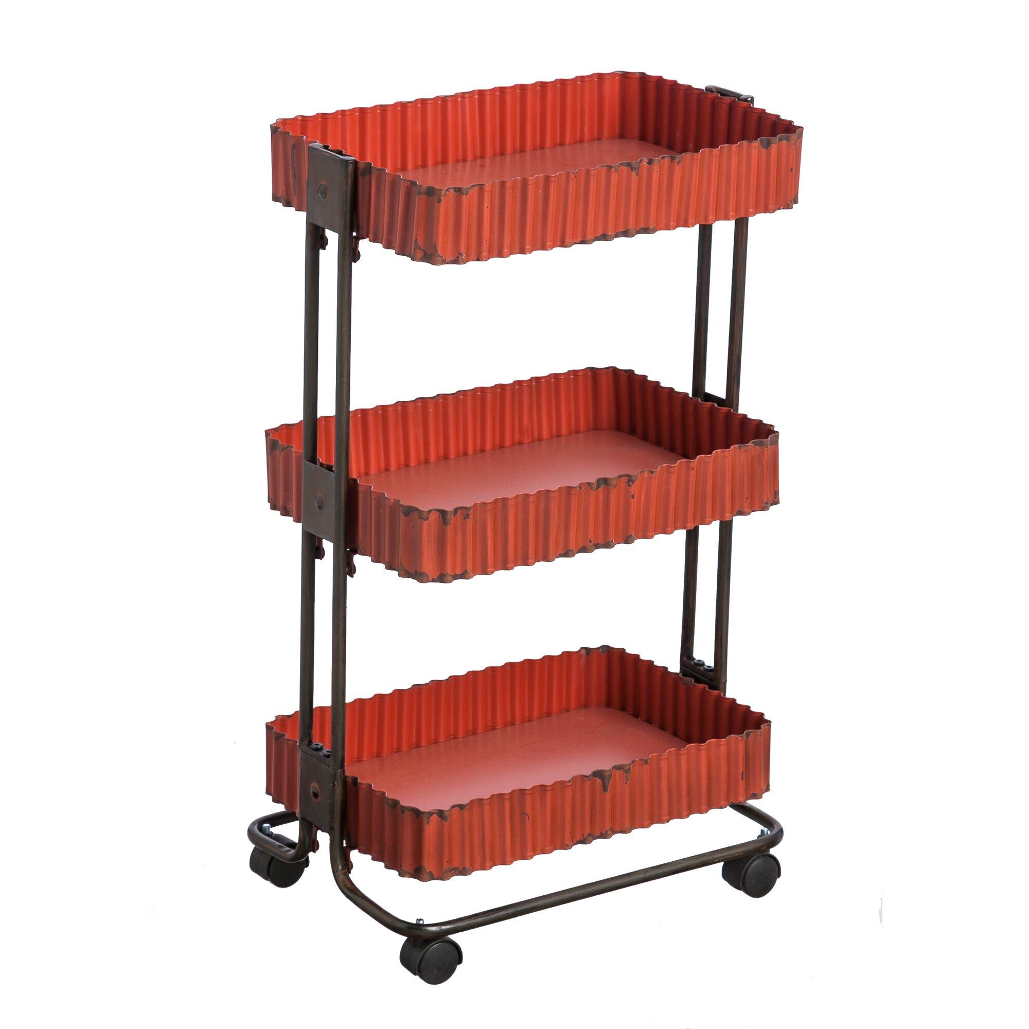 Kitchen cart metal - 3 Tier Metal Utility Cart