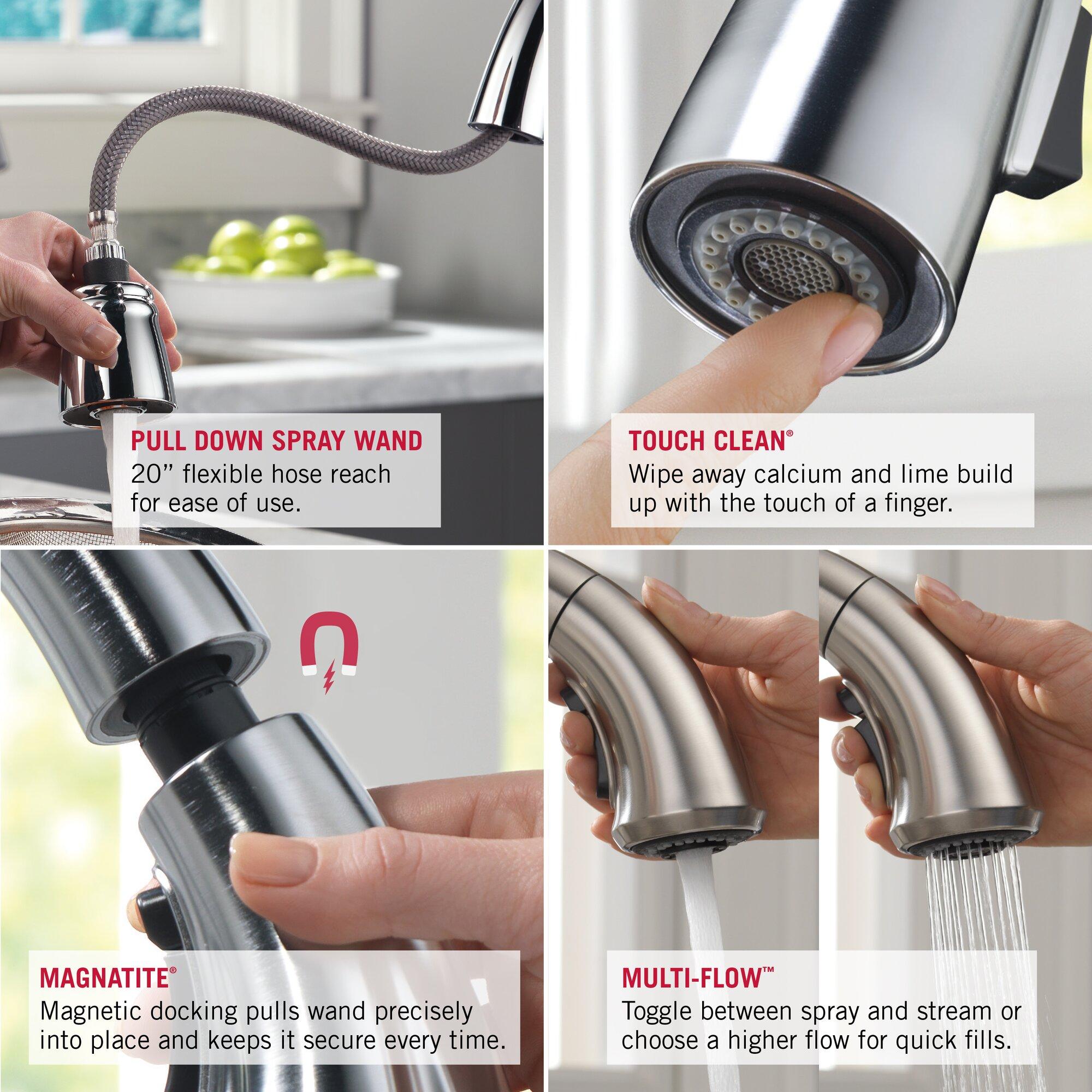 delta addison touchless single handle standard kitchen delta addison touchless single handle standard kitchen
