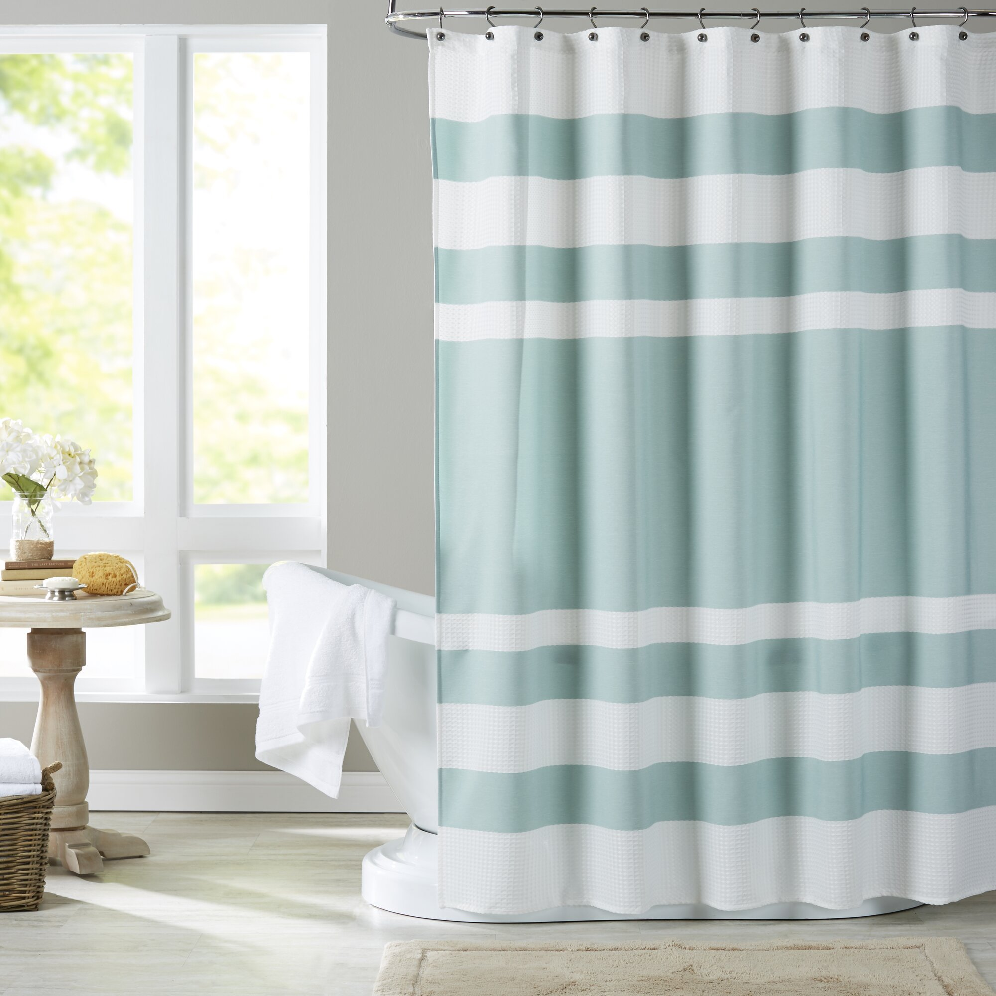 Coral and mint shower curtain - Pineapple Shower Curtain Wayfair Mint Green Shower Curtain
