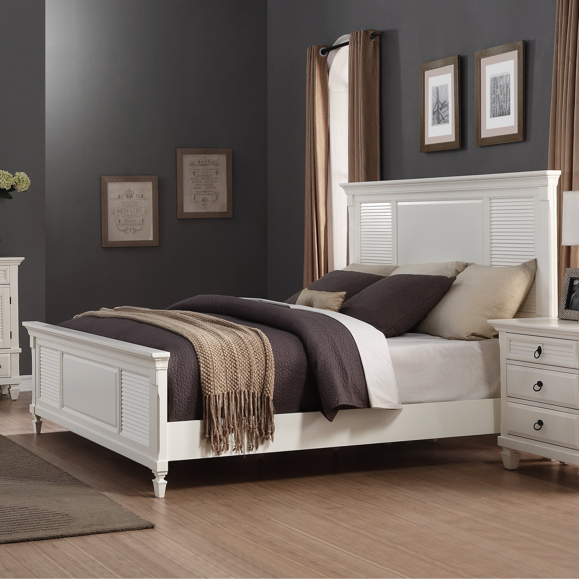 Roundhill furniture regitina panel 6 piece bedroom set for Bedroom 6 piece set