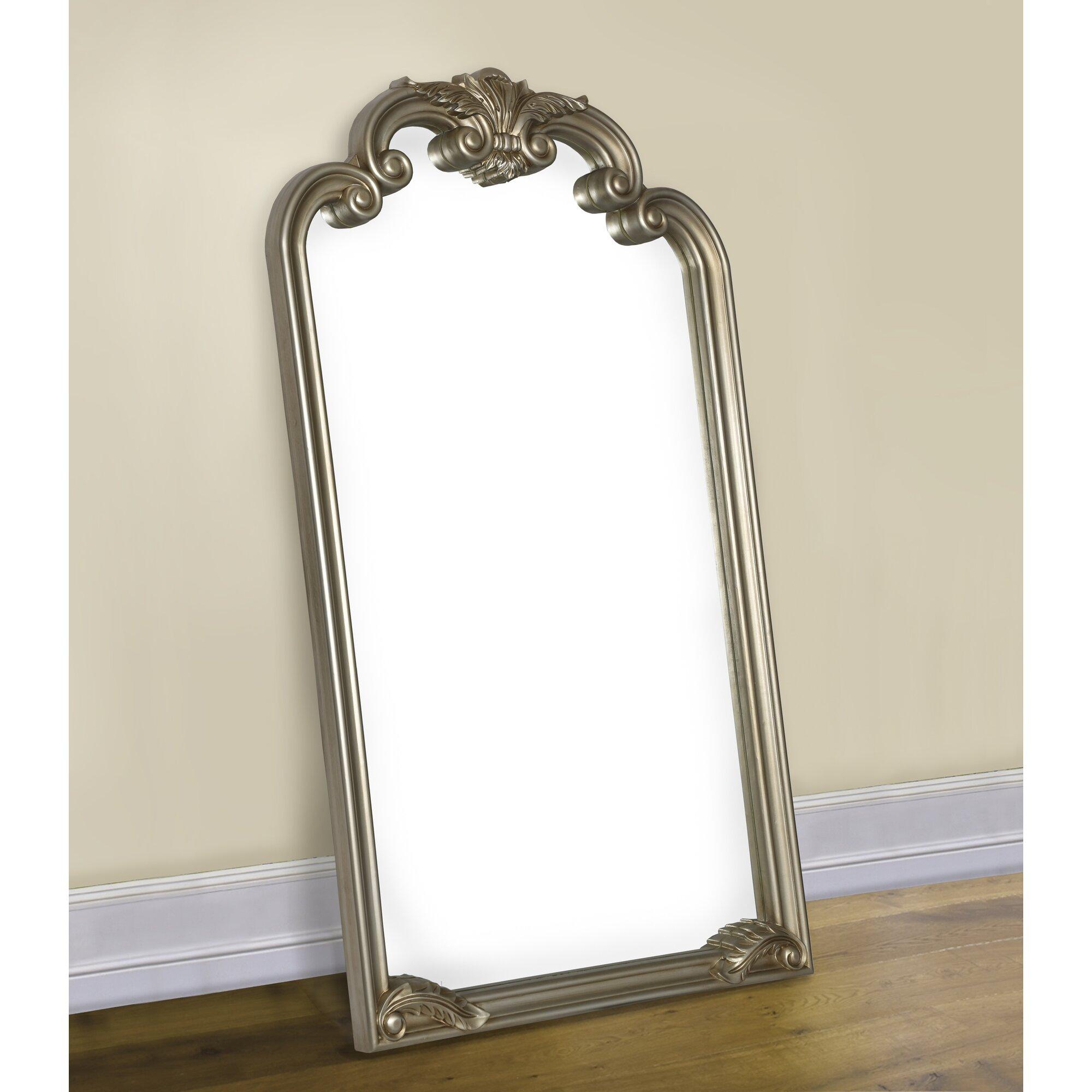 Logan arched floor mirror joss main for Glass floor mirror
