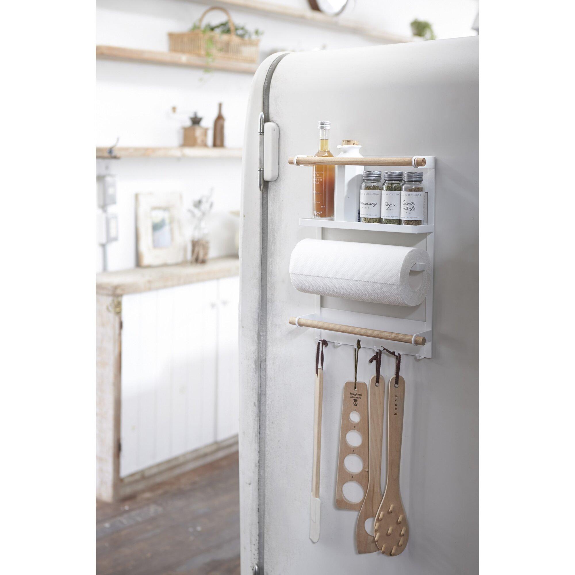 Yamazaki Usa Tosca Magnetic Kitchen Organization Rack