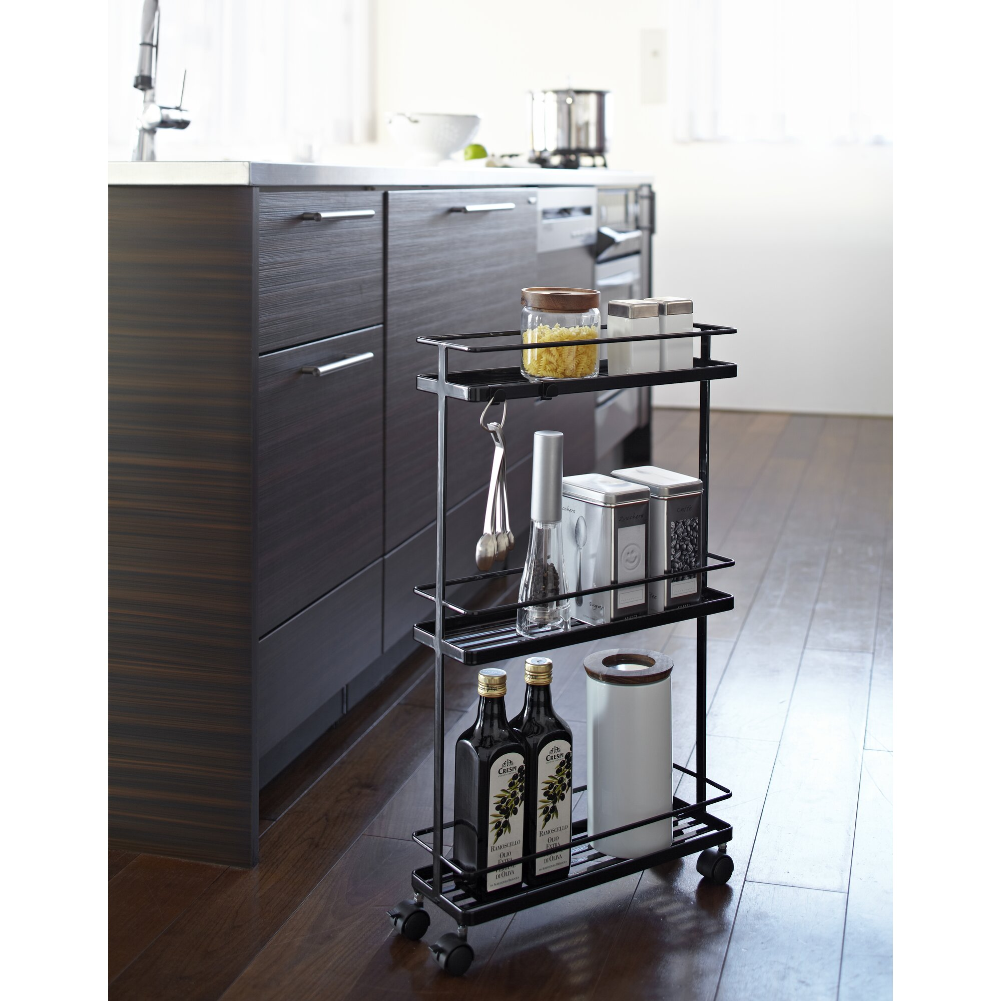 Yamazaki Usa Tower Rolling Kitchen Storage Cart Reviews