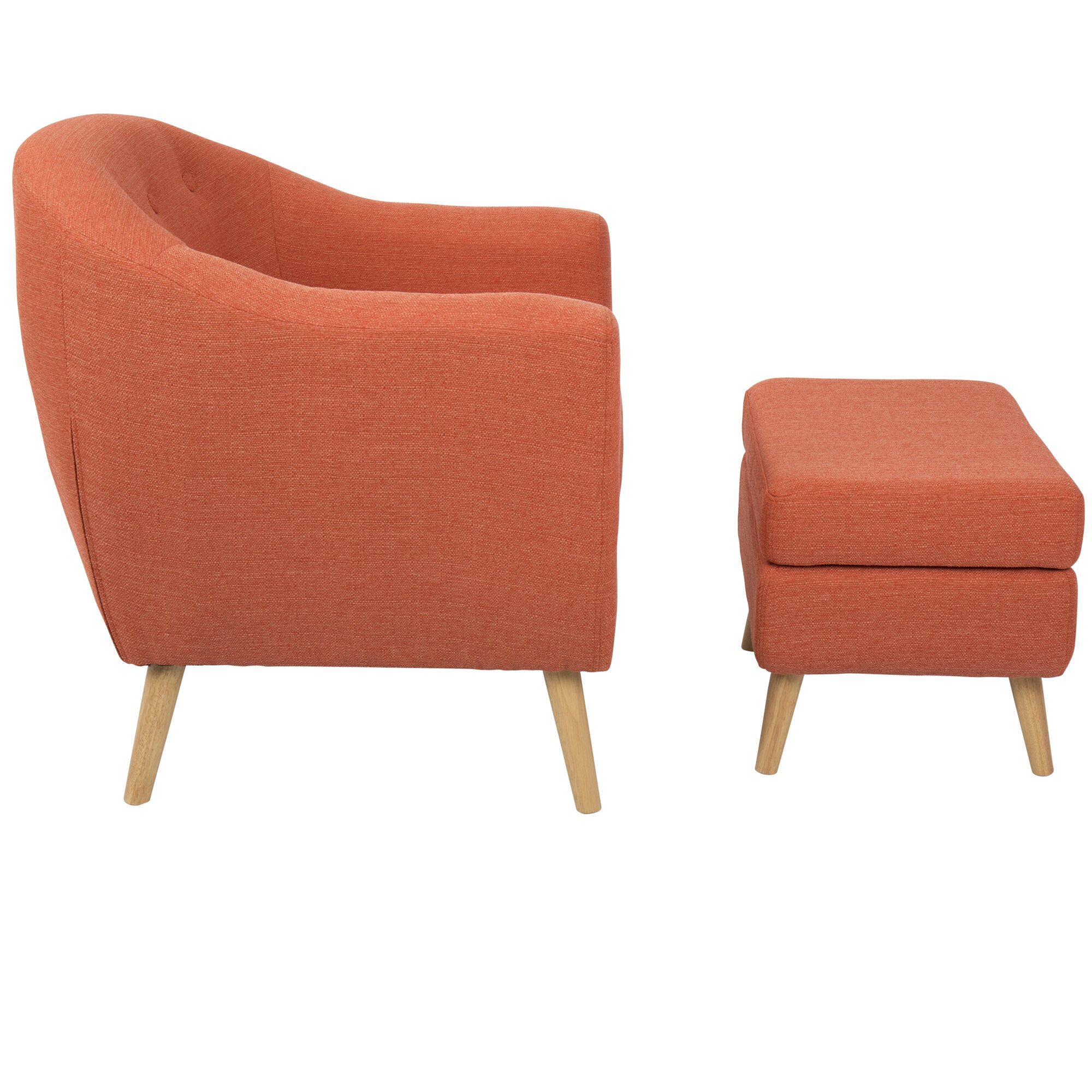 Laurence Barrel Chair And Ottoman Amp Reviews Allmodern