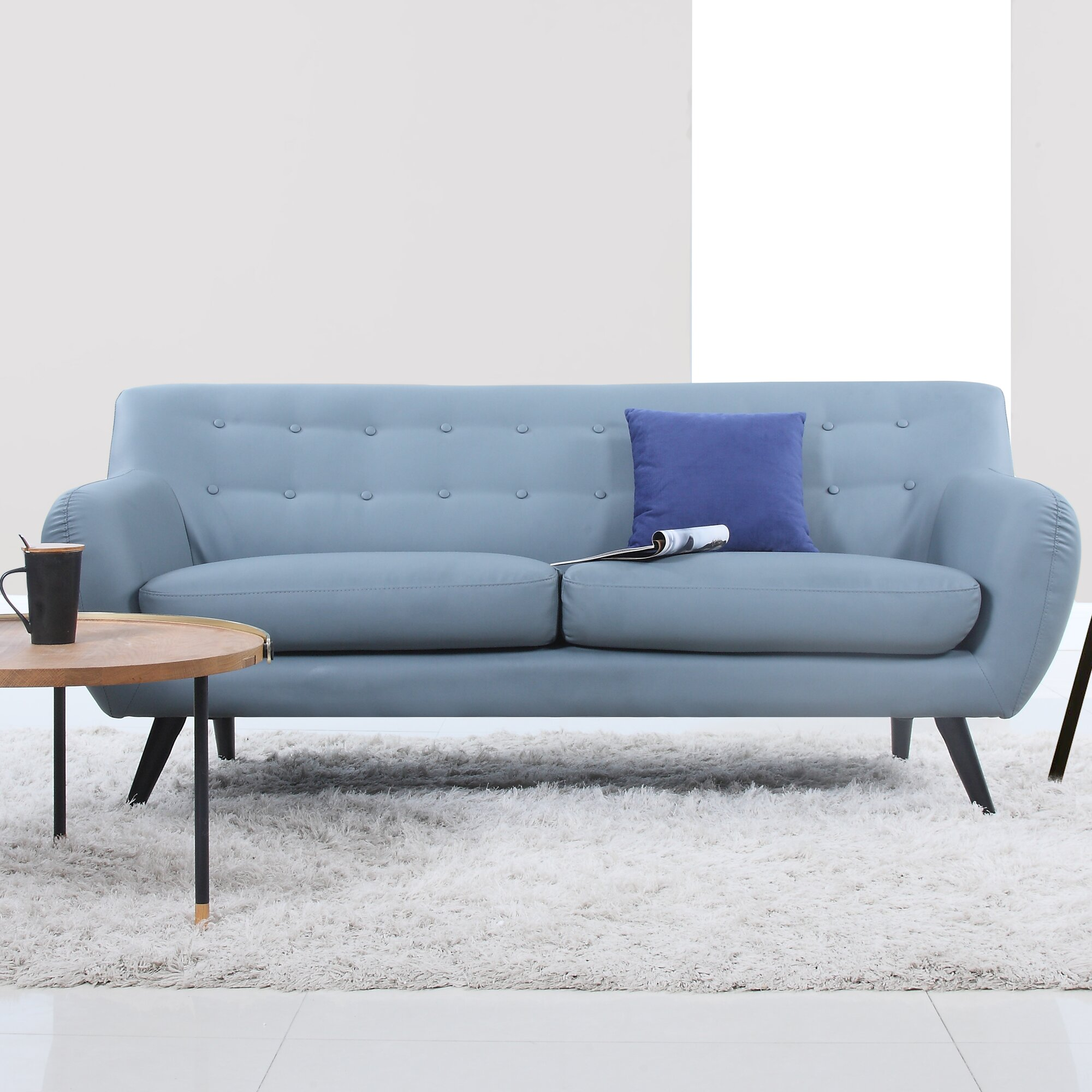 Mid Century Modern Sofas: Madison Home USA Mid Century Modern Tufted Sofa & Reviews