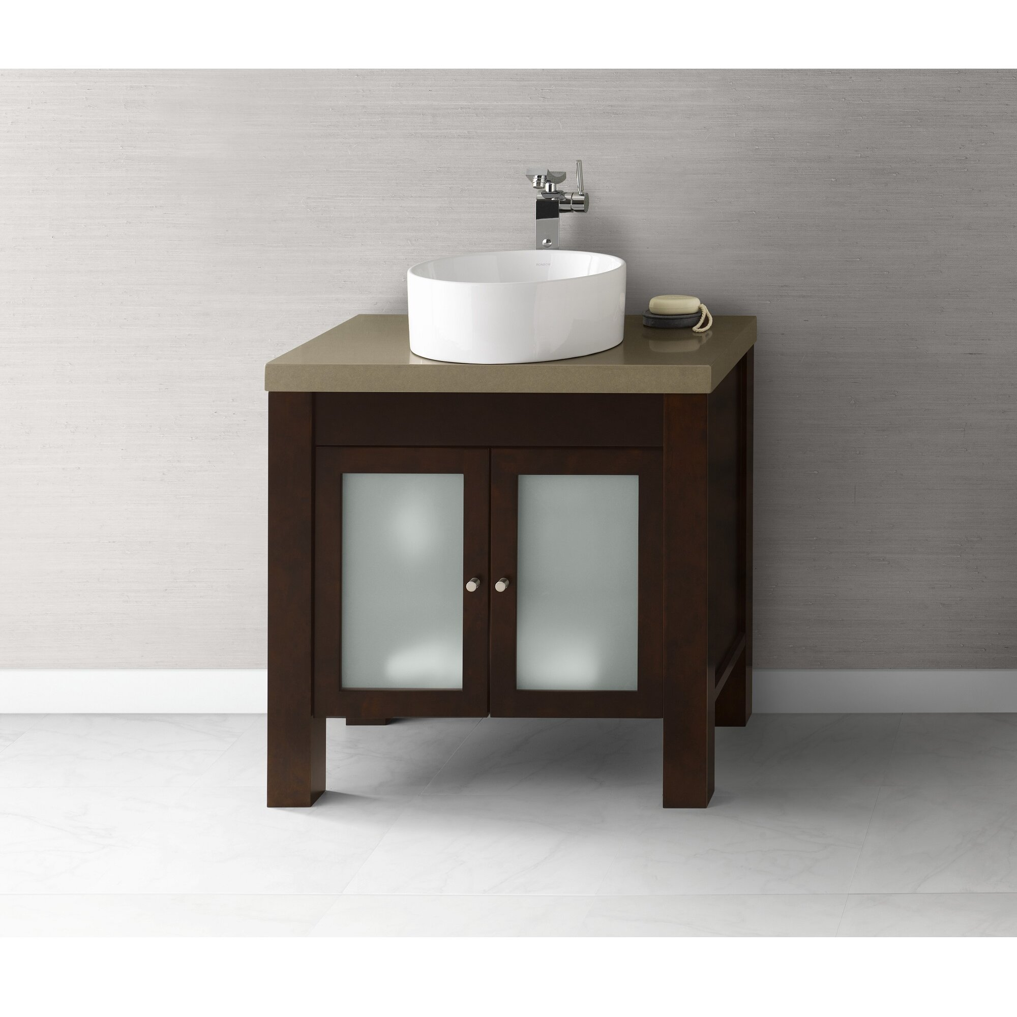 ronbow square tapered ceramic dropin bathroom sink in white  - ronbow ceramic circular vessel bathroom sink reviews wayfair  ronbowbathroom sinks