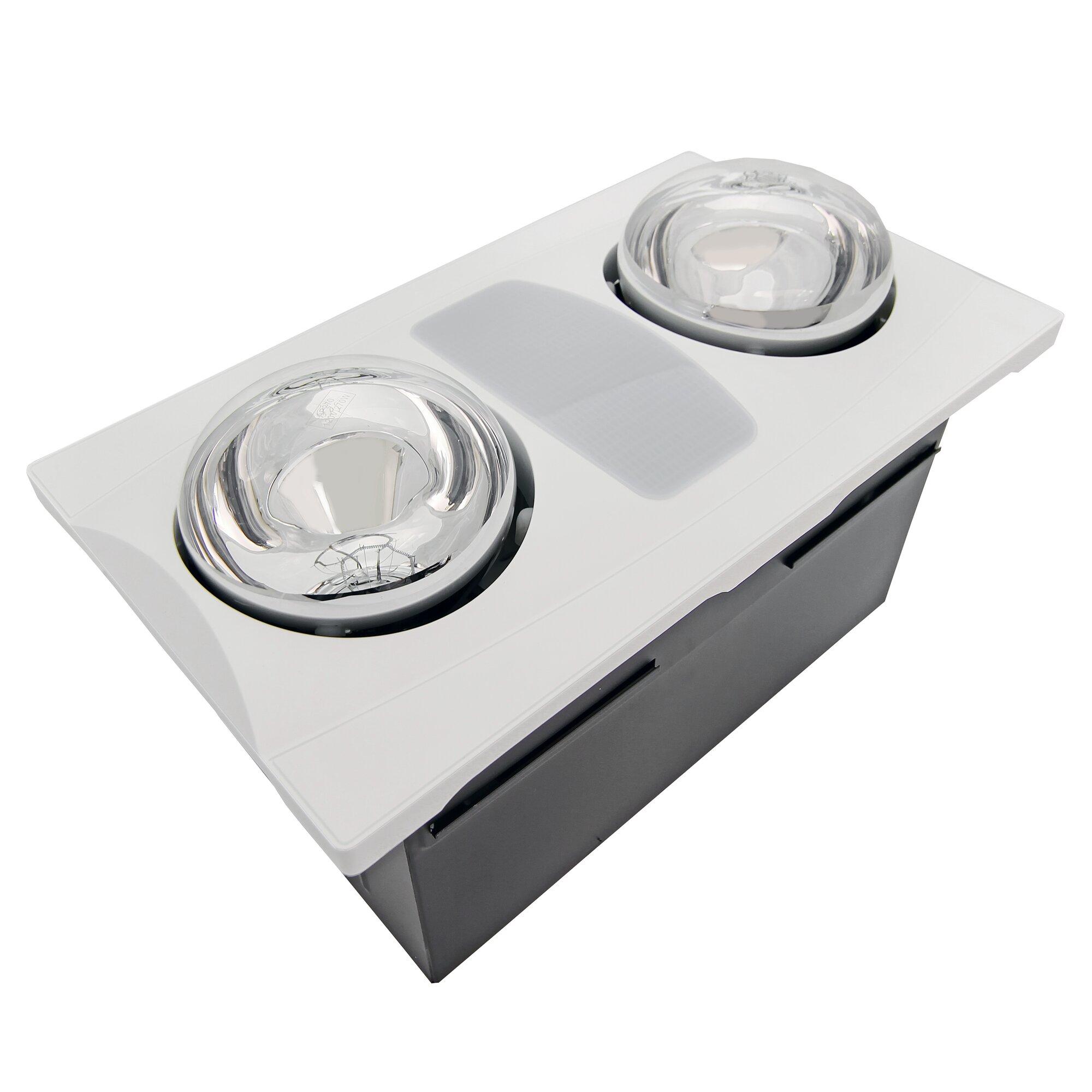 Bathroom heaters ceiling - 80 Cfm Bathroom Fan With Heater And Light