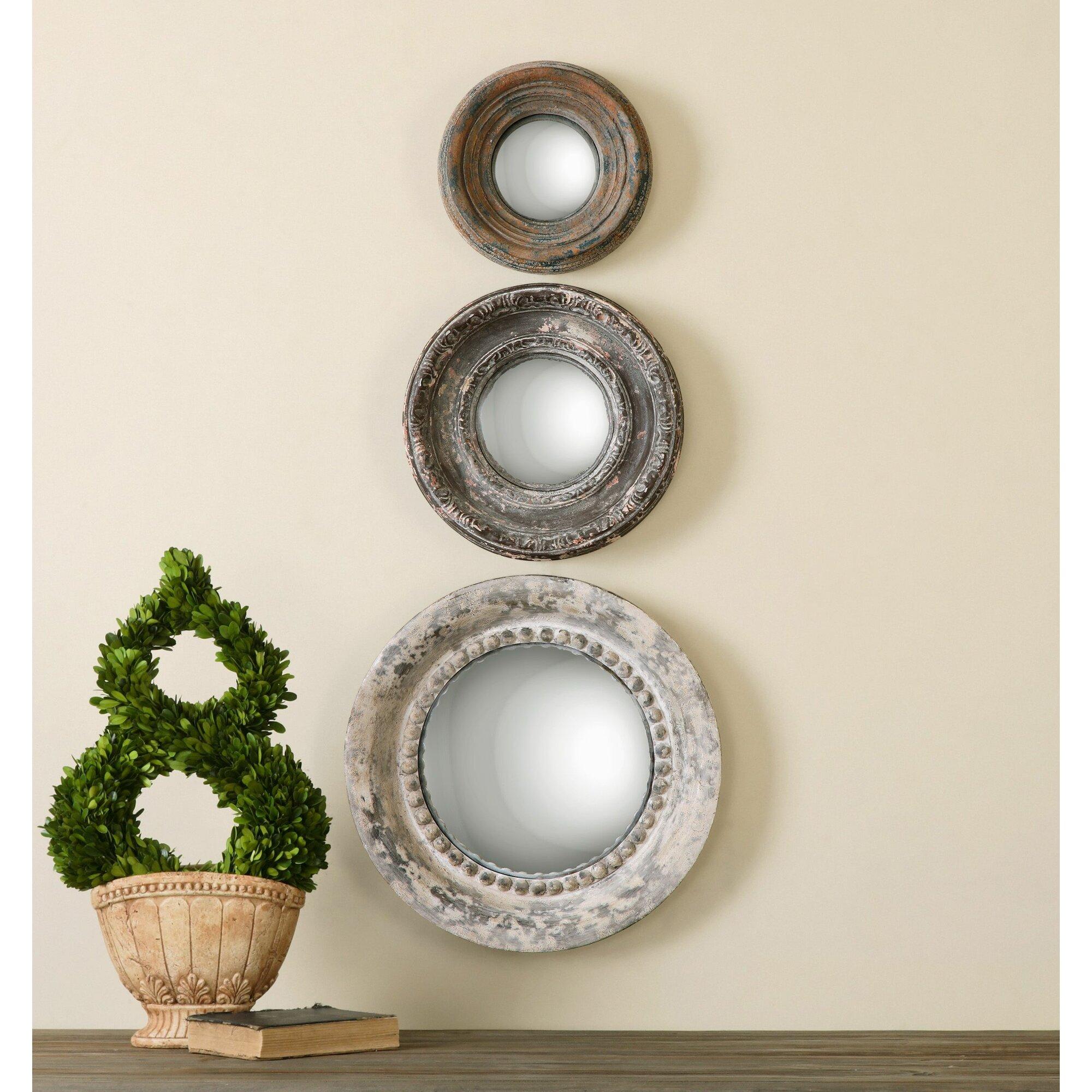 3 Piece Alona Round Large Wall Mirror Set amp Reviews Joss