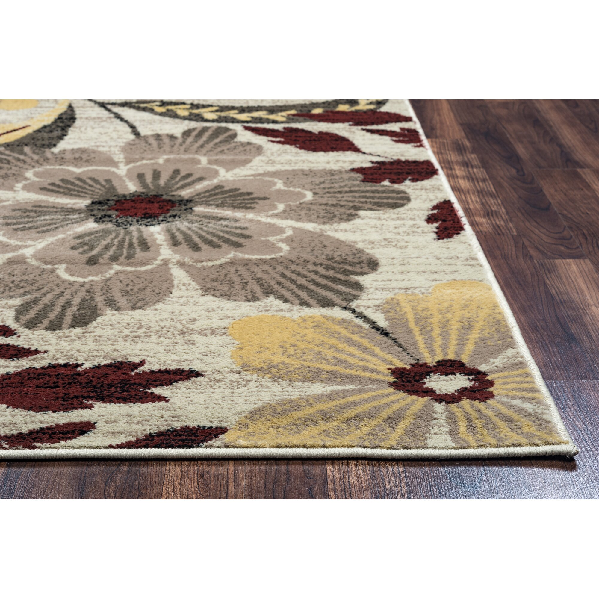 Threadbind Culver Ivory Floral Area Rug Amp Reviews Wayfair