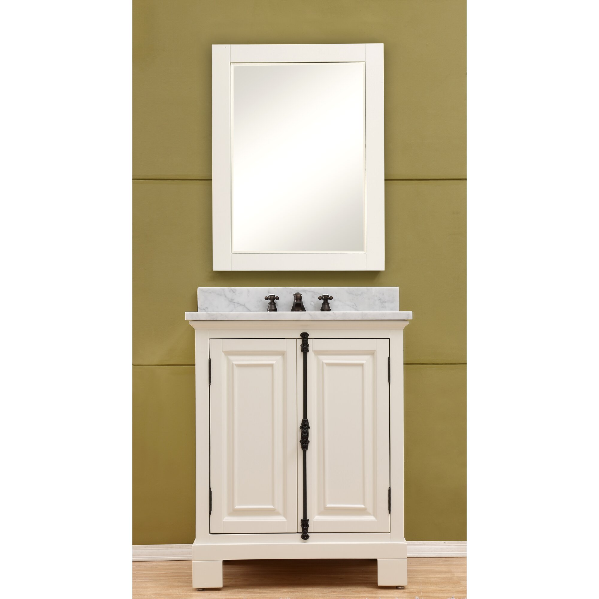 Dcor Design Freemont 30 Single Bathroom Vanity Set With Mirror And Faucet