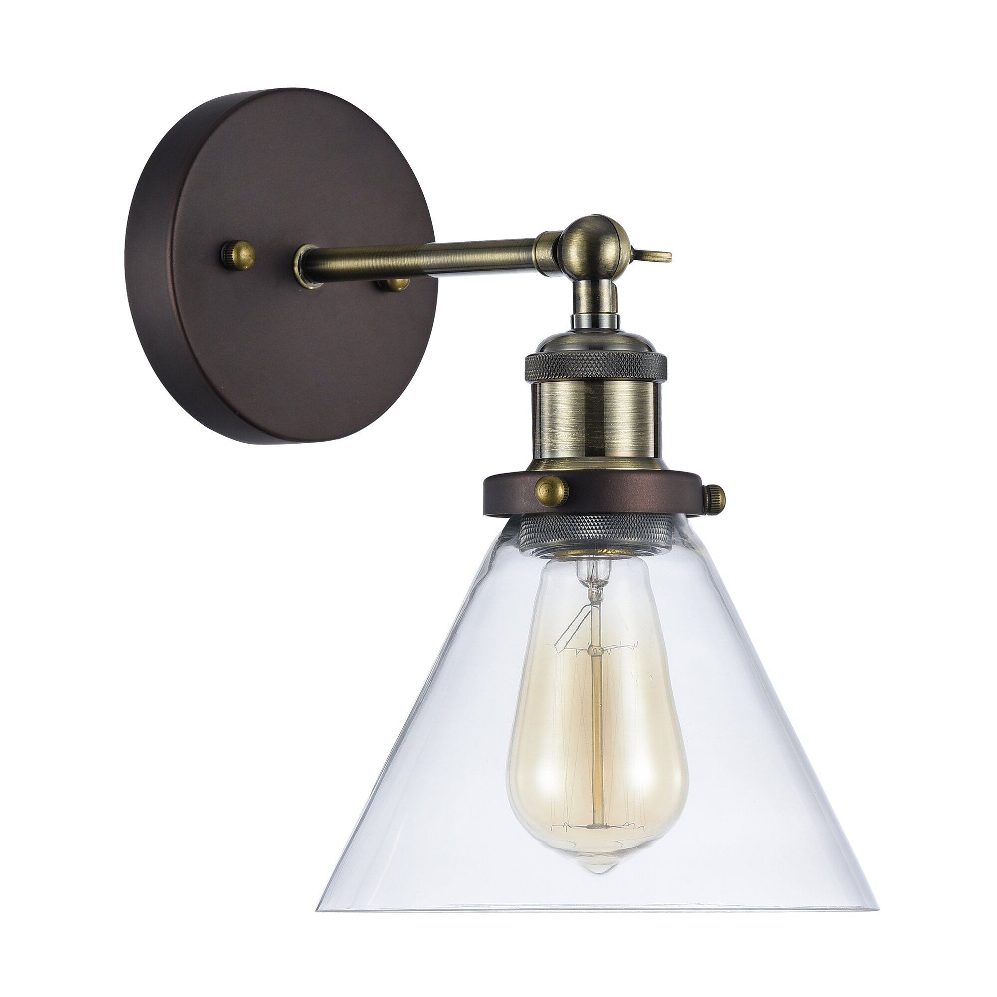 Wall Sconce With Magnifying Glass : Bouvet 1-Light Wall Sconce & Reviews Birch Lane