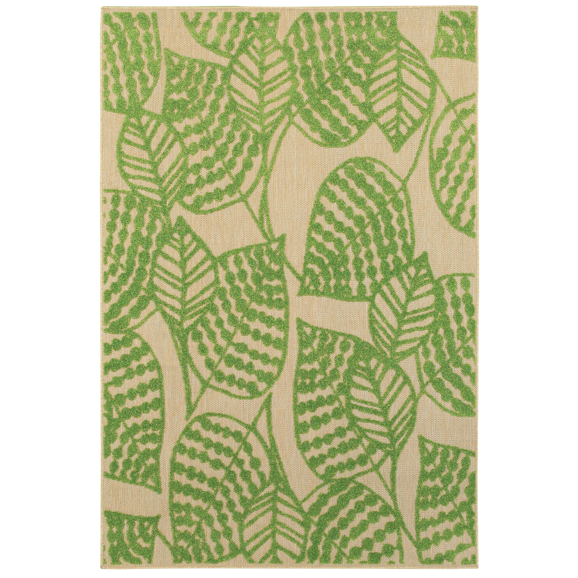 Bay isle home ledyard sand green indoor outdoor area rug for Indoor outdoor carpet green