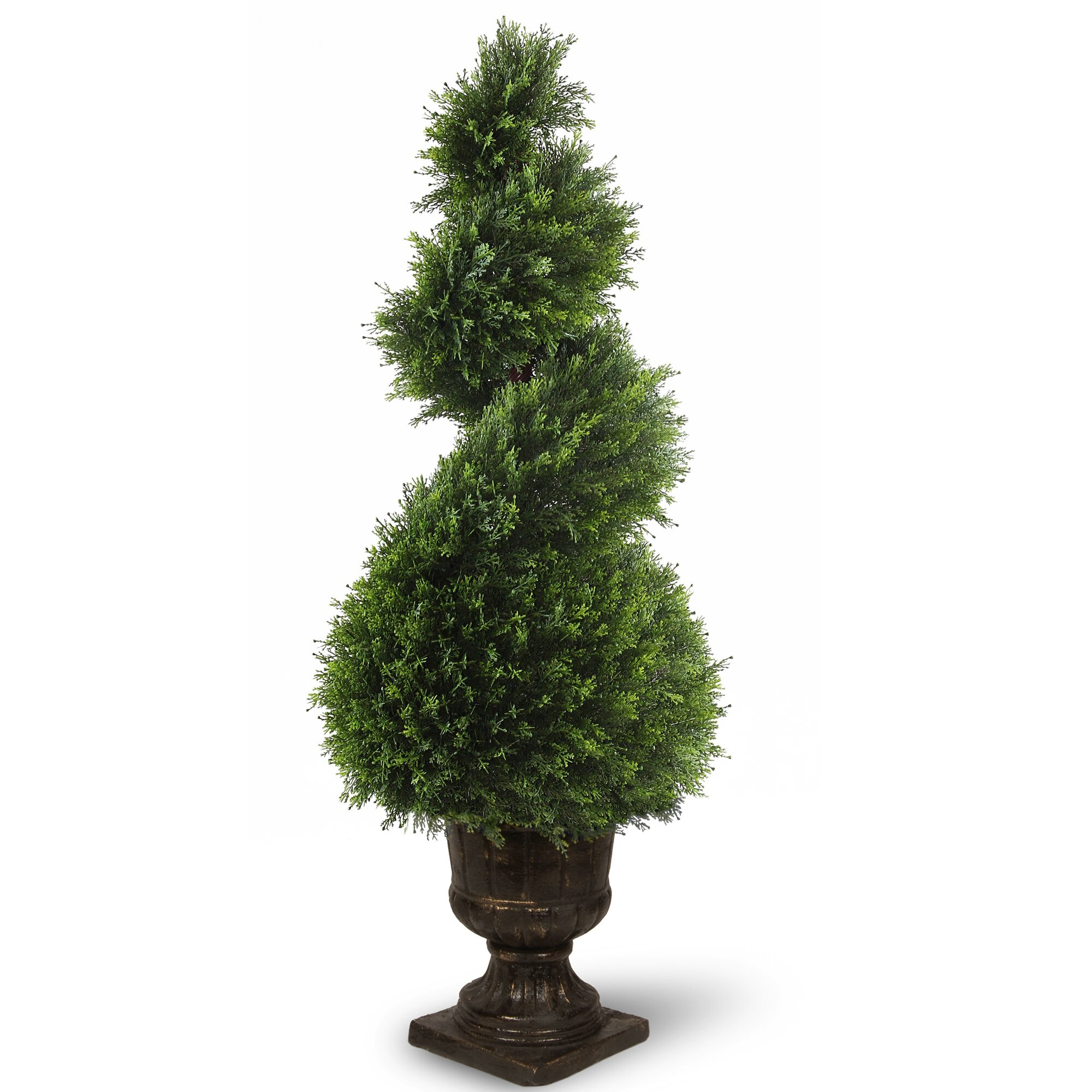Topiary Spiral Trees: National Tree Co. Juniper Spiral Topiary In Urn & Reviews