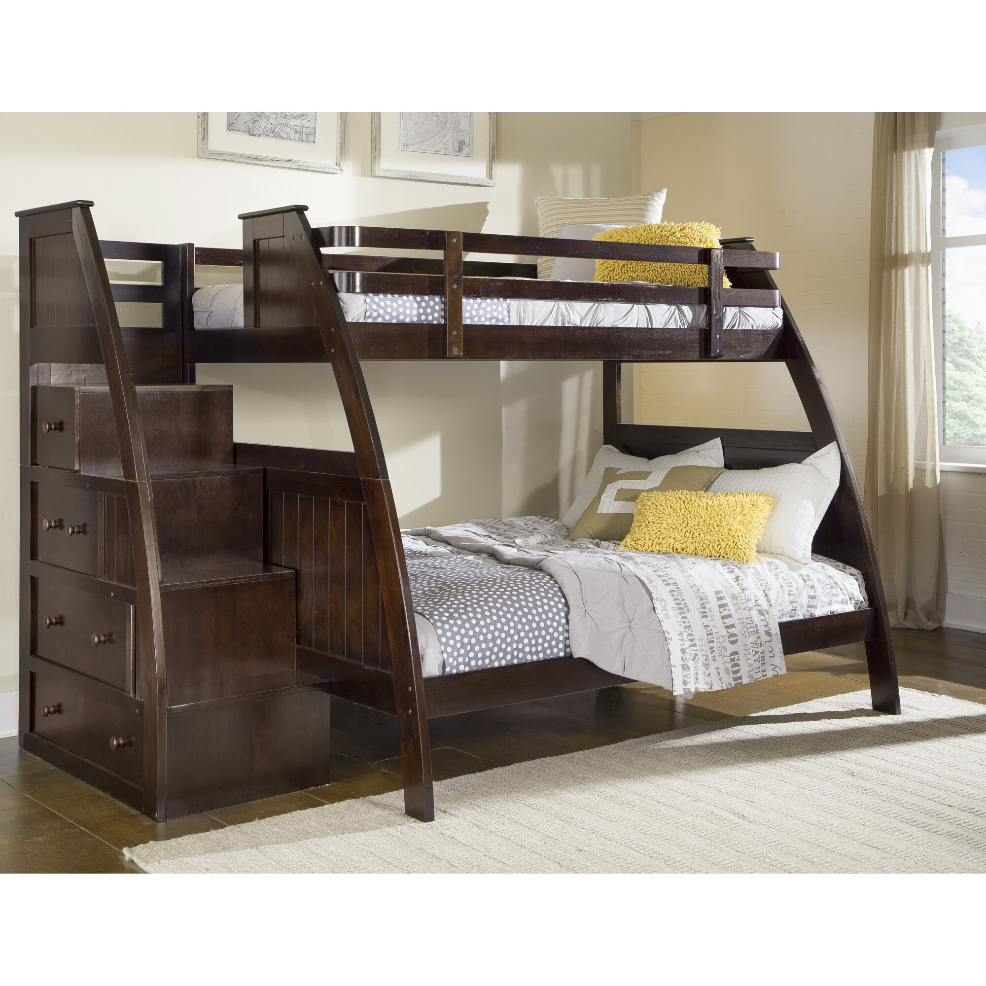 Sebring Twin Over Full Bunk Bed With Storage