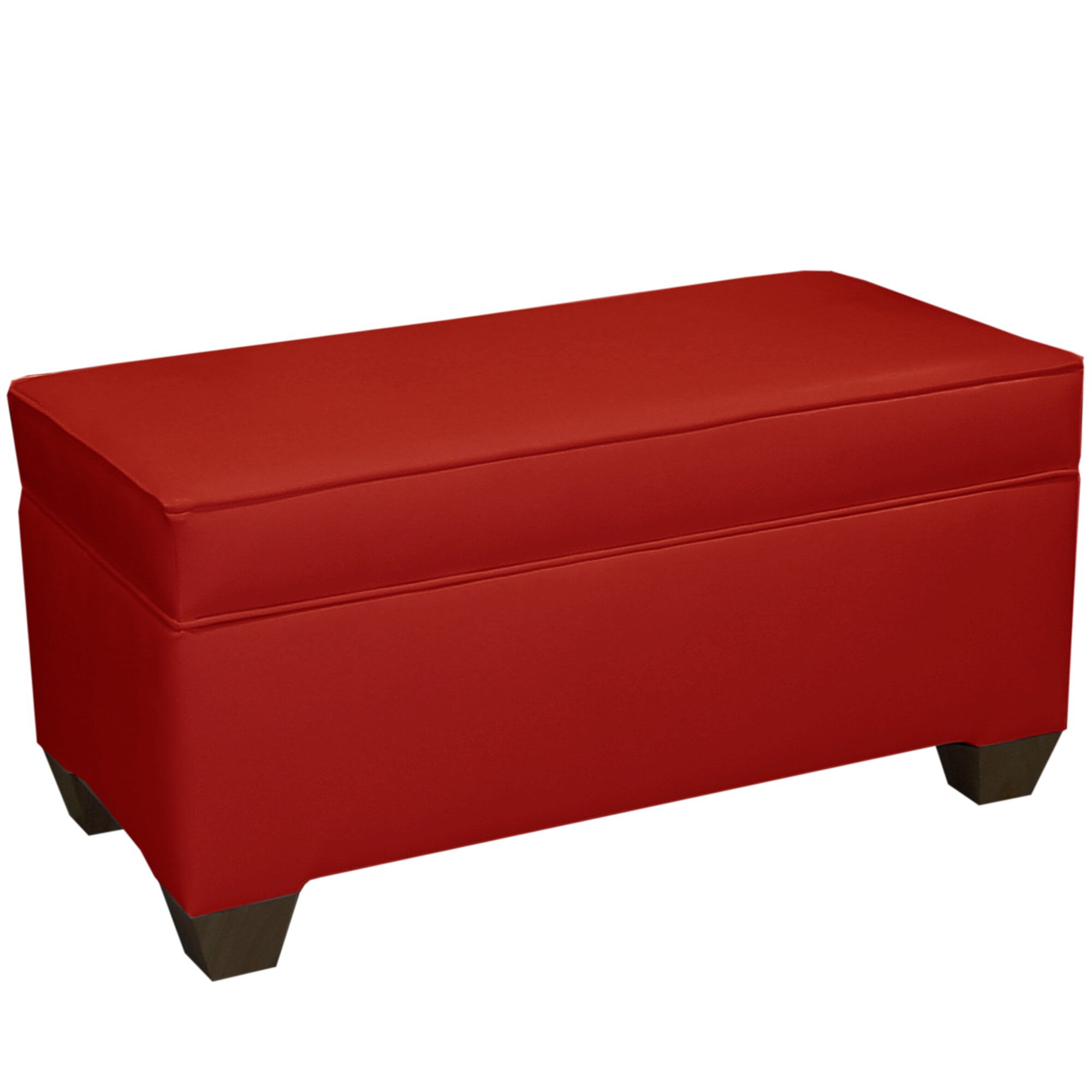red barrel studio hardenburgh fabric storage bedroom bench