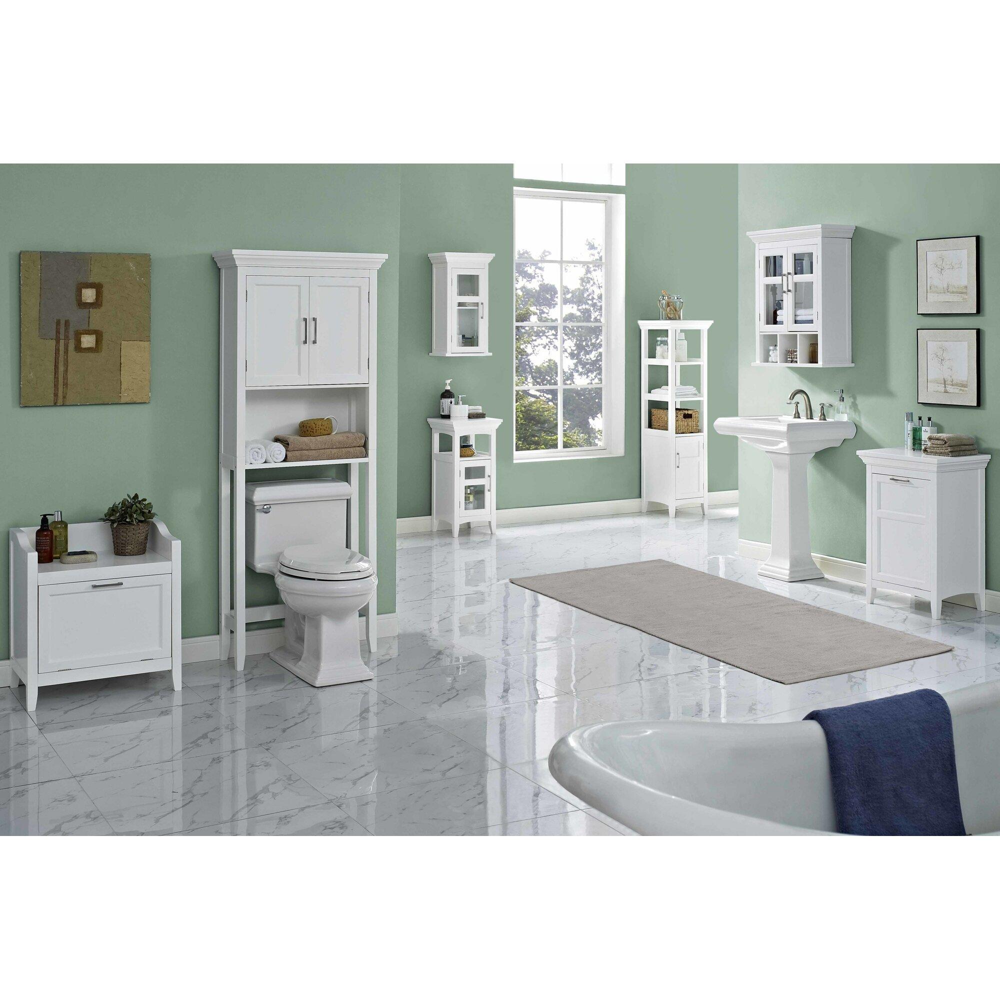 Avington Cabinet Laundry Hamper With Built In Laundry Hamper