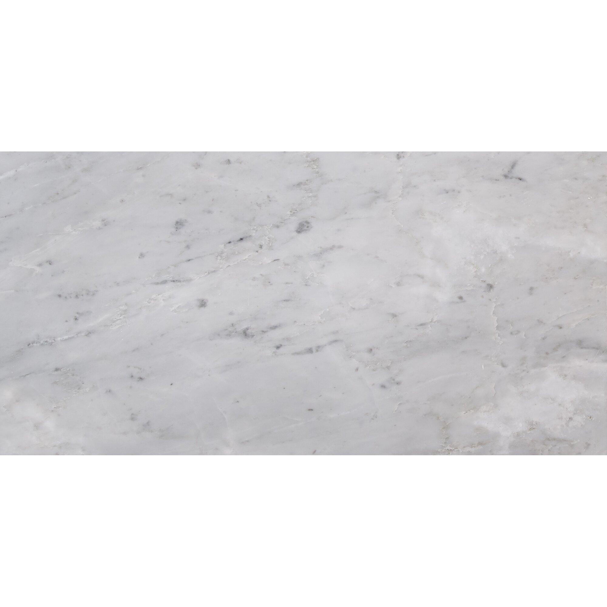 Arabescato Carrara Marble : Marble field tile in arabescato carrara