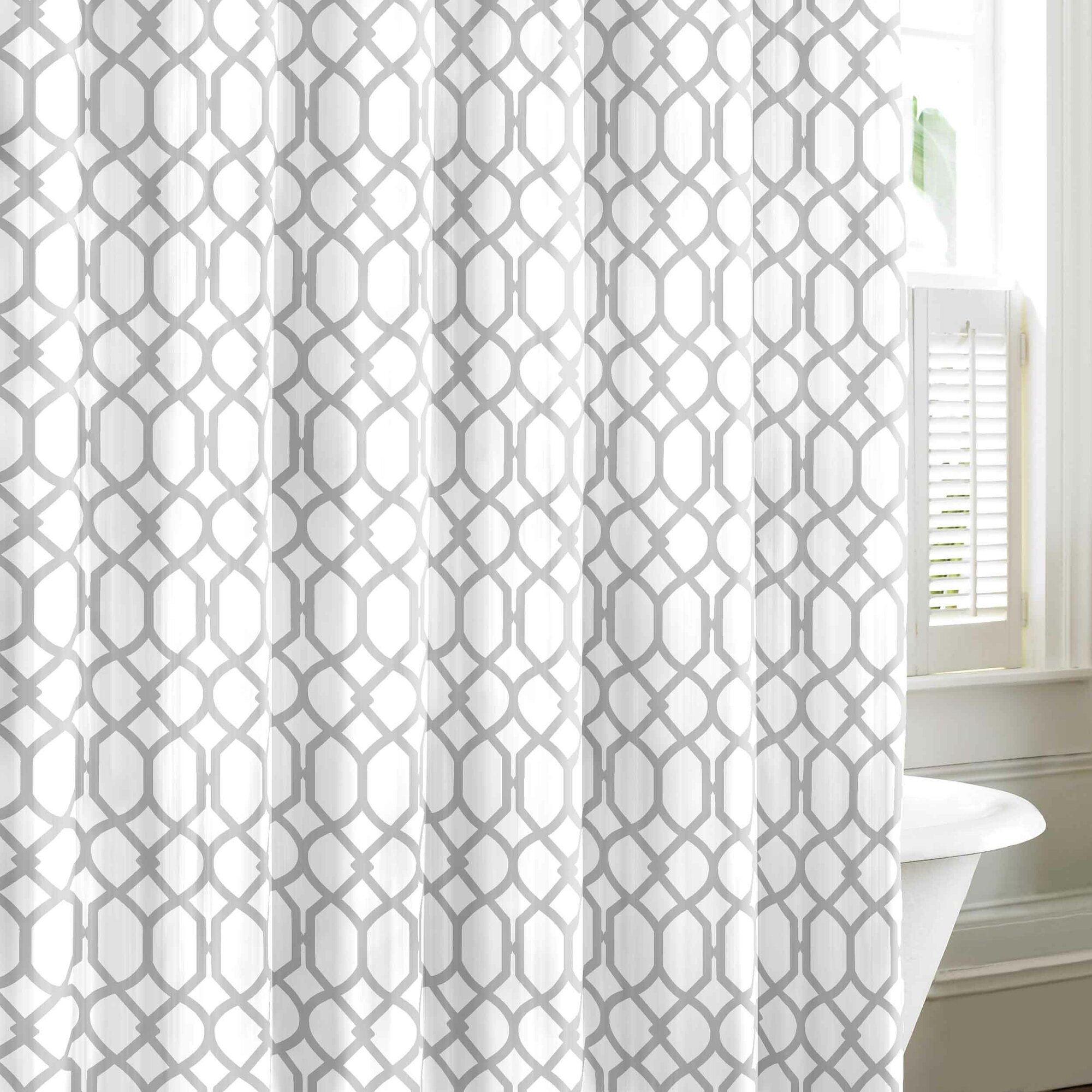 Tommy Bahama Bedding Shoreline Trellis Cotton Shower Curtain By - Mint green shower curtain
