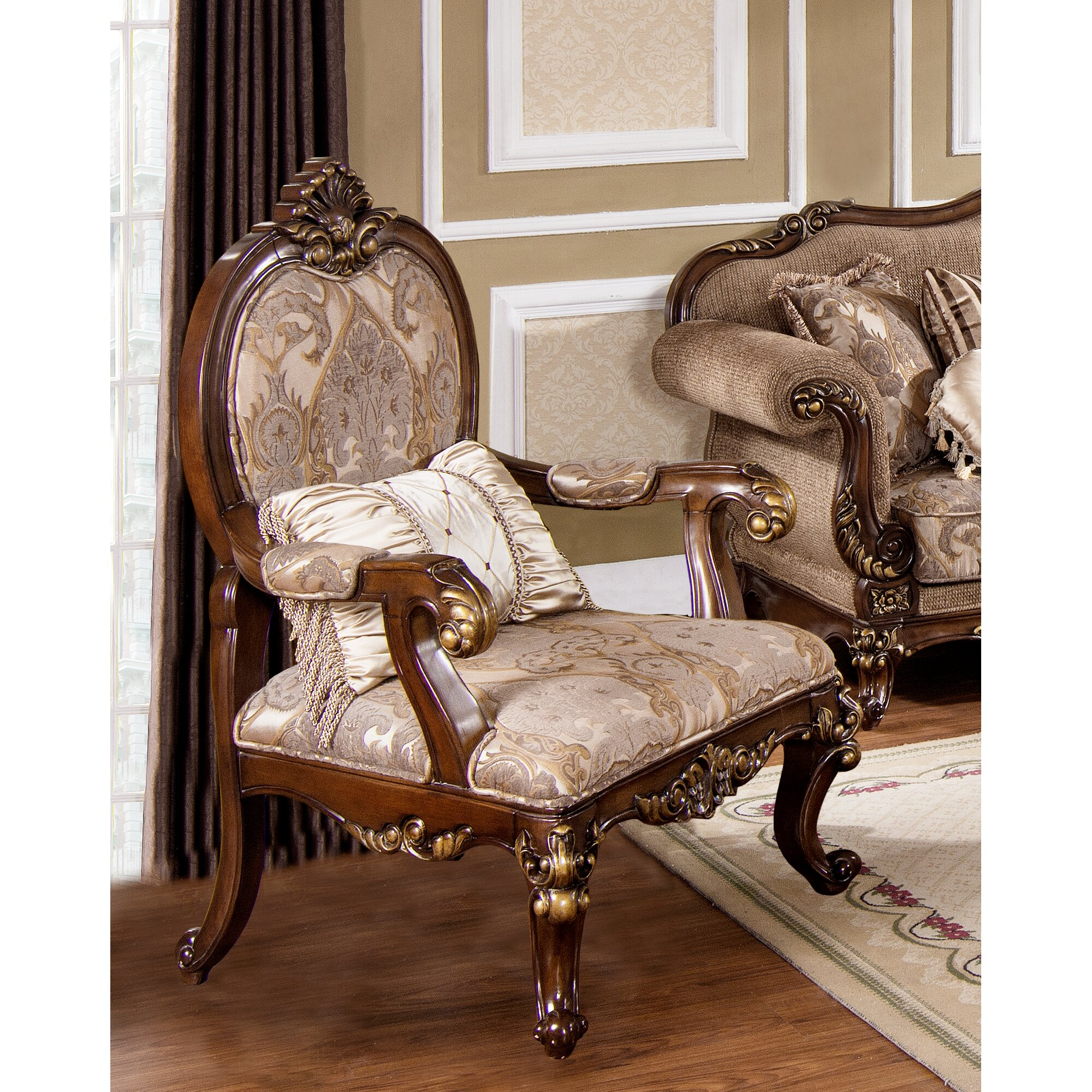 Traditional armchair - Fontainbleau Traditional Living Room Armchair