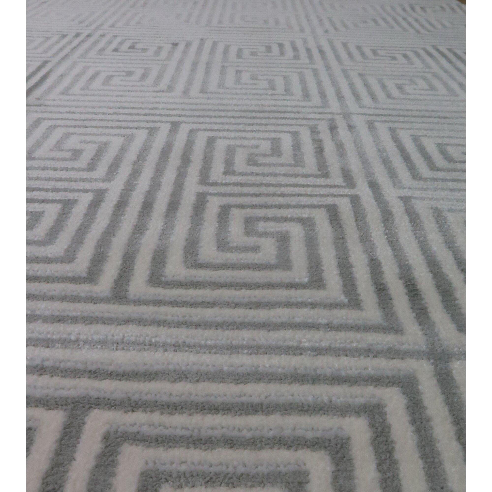 Hokku Designs Teppich Jigsaw in CremeGrau  Wayfairde