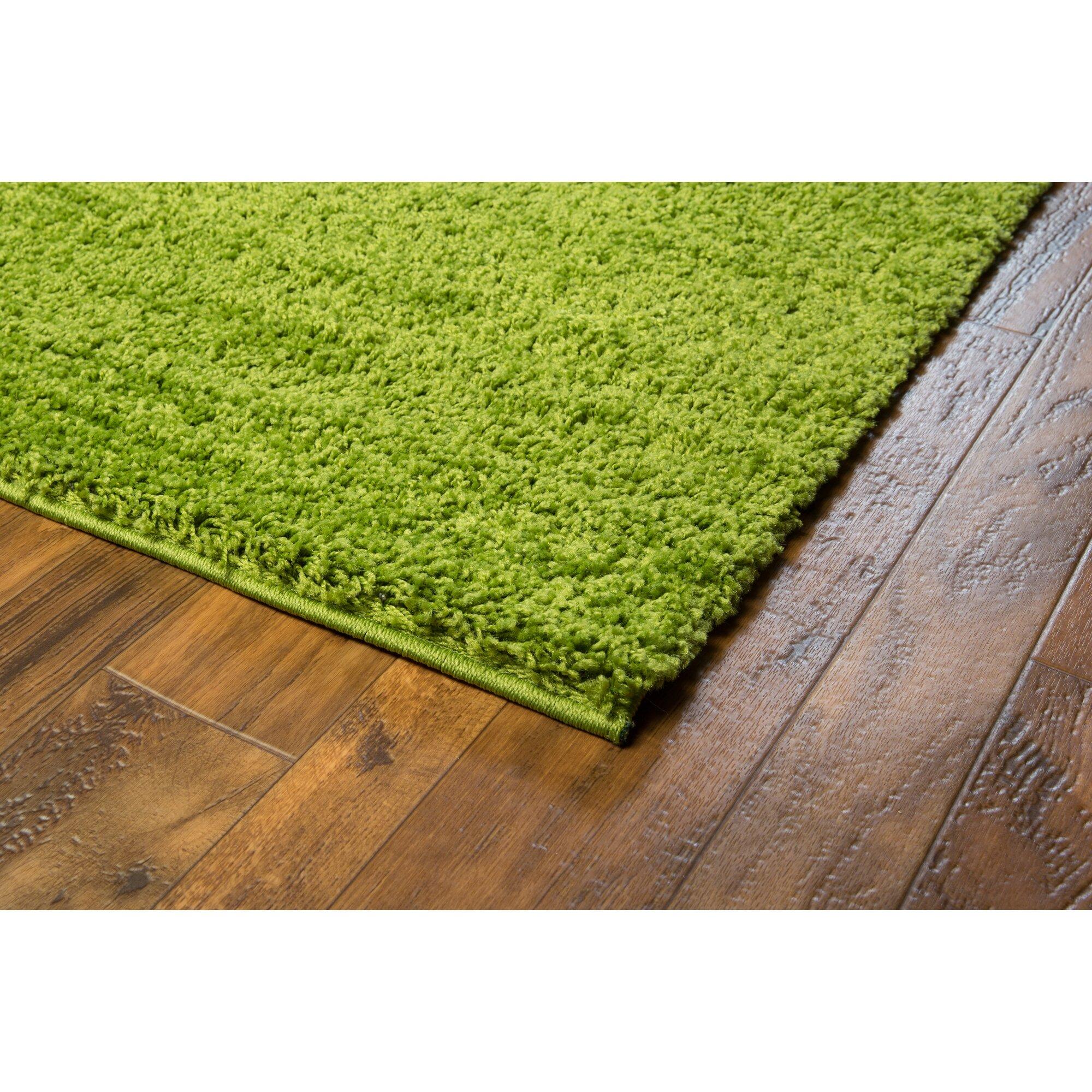 Zipcode Design Dante Plain Solid Green Area Rug & Reviews
