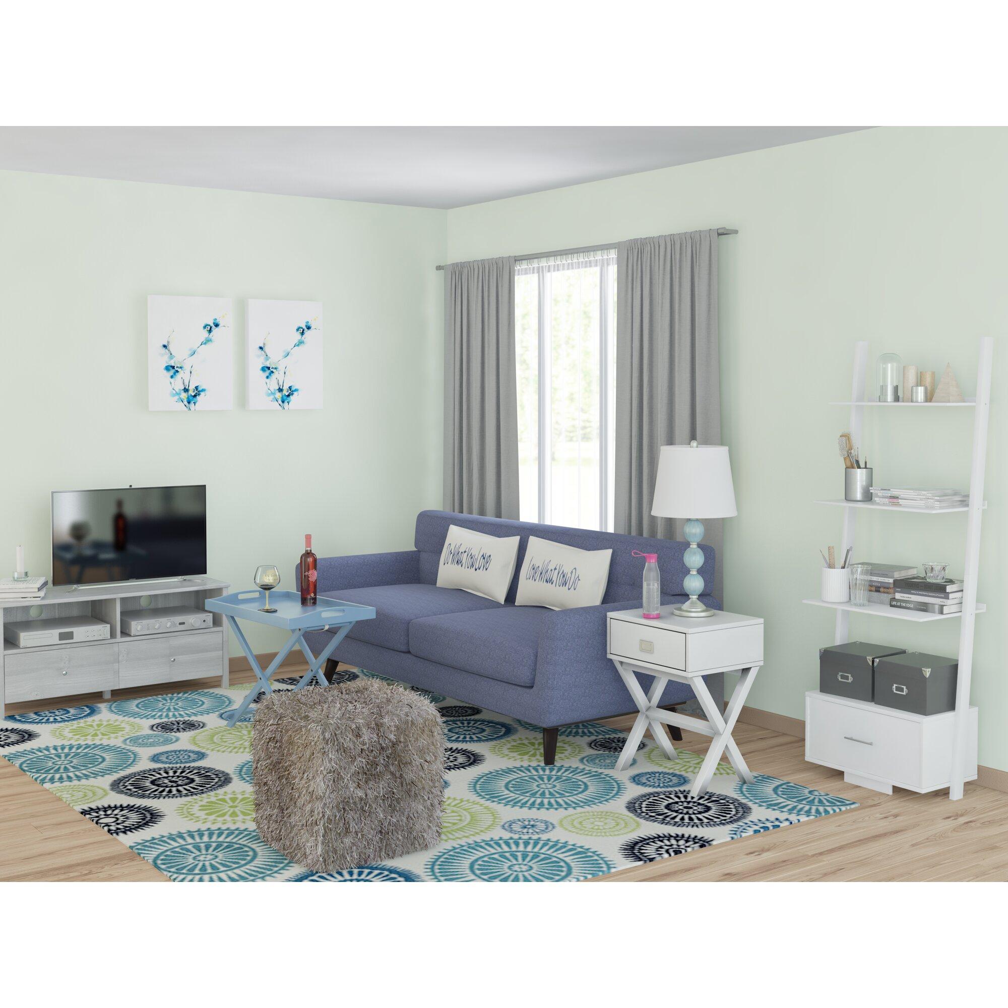 Zipcode Design Lucia Ivory Green Blue Indoor Outdoor Area