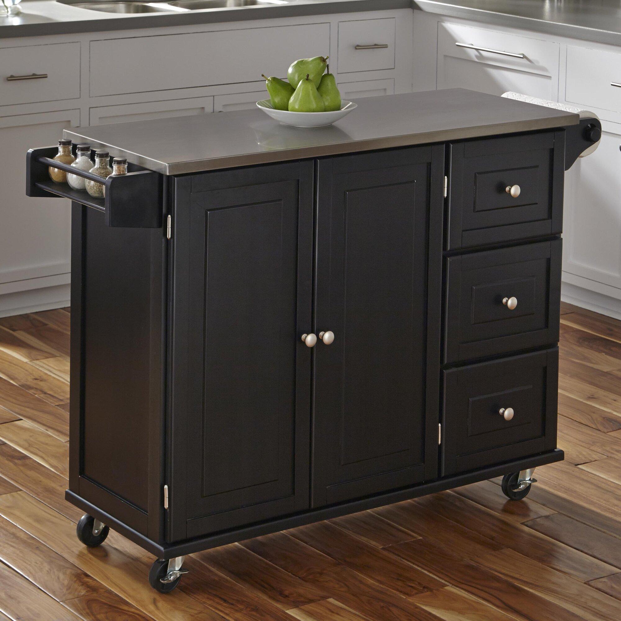 Uncategorized Stainless Steel Kitchen Island kitchen islands carts youll love wayfair