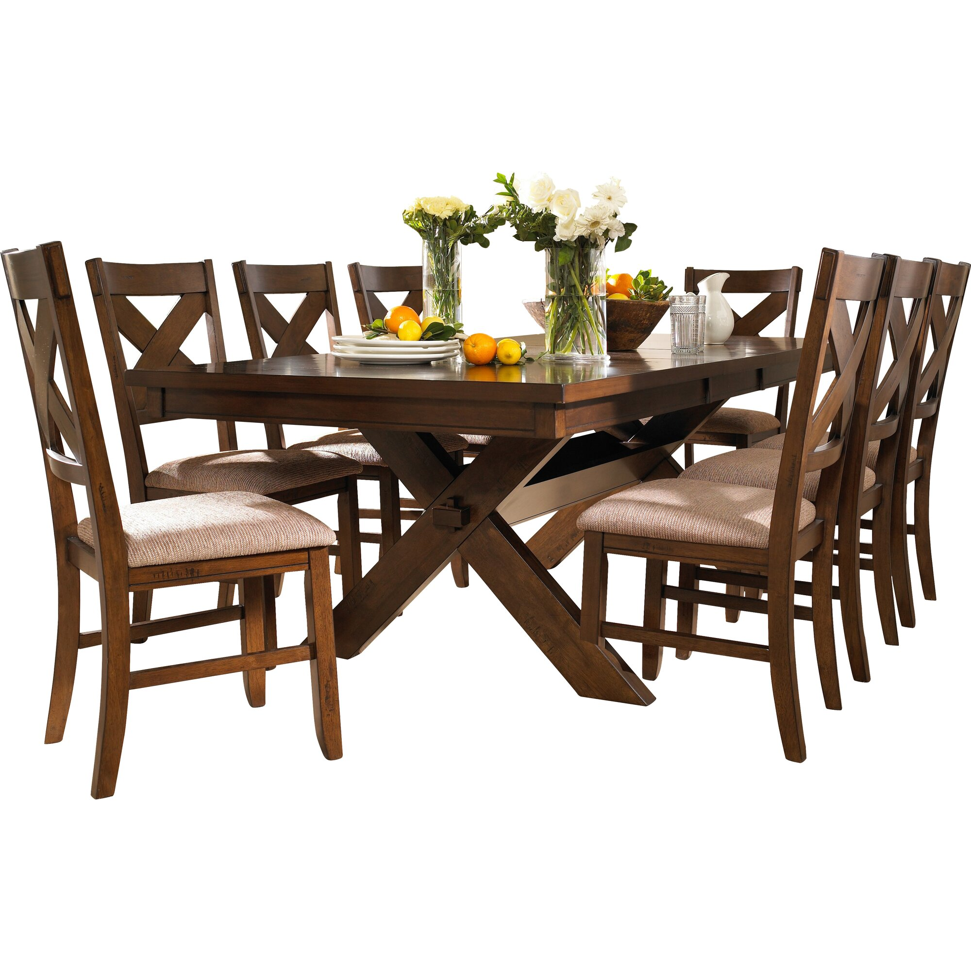 Dinning Set: Laurel Foundry Modern Farmhouse Isabell 9 Piece Dining Set