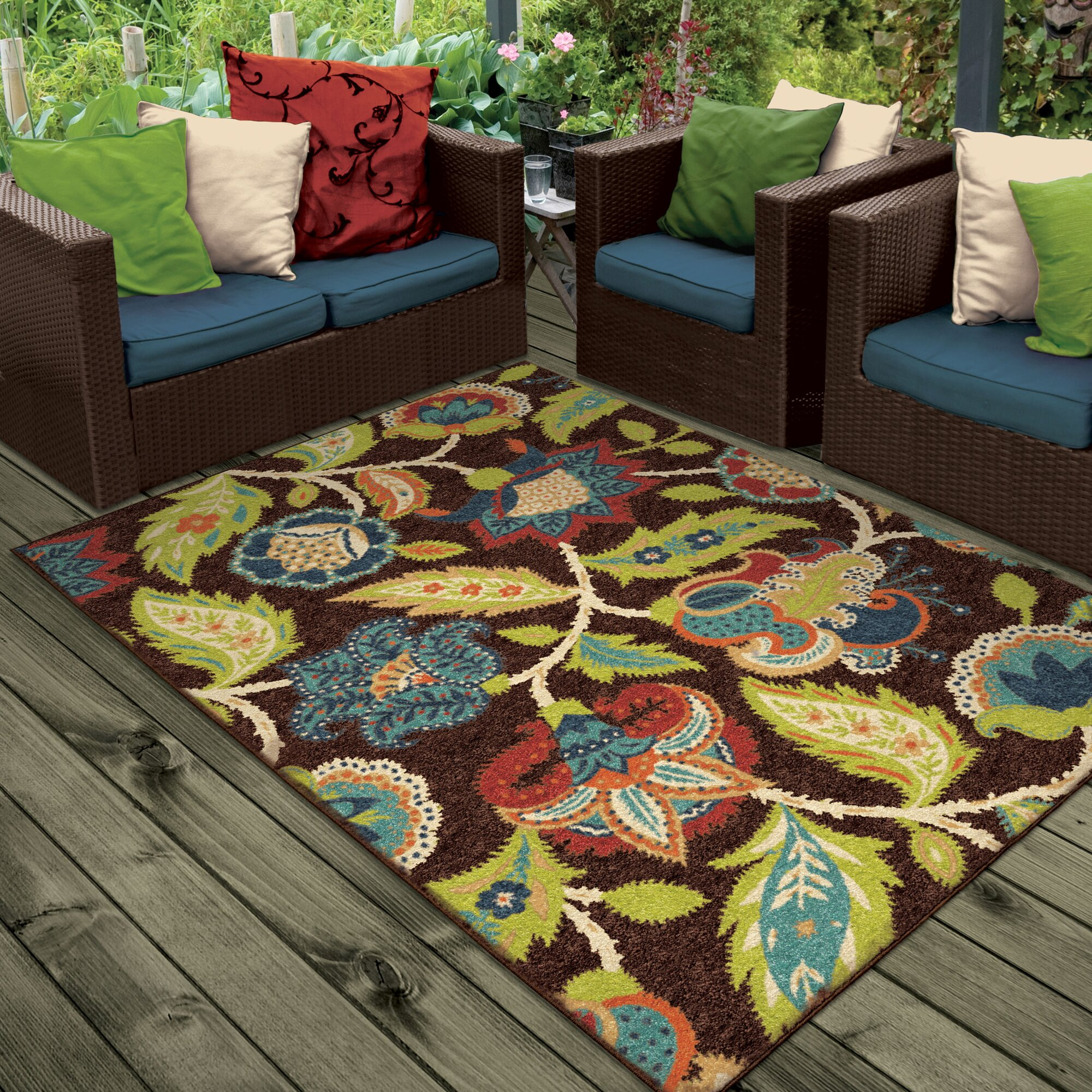 Threadbind Orwell Brown Indoor Outdoor Area Rug & Reviews