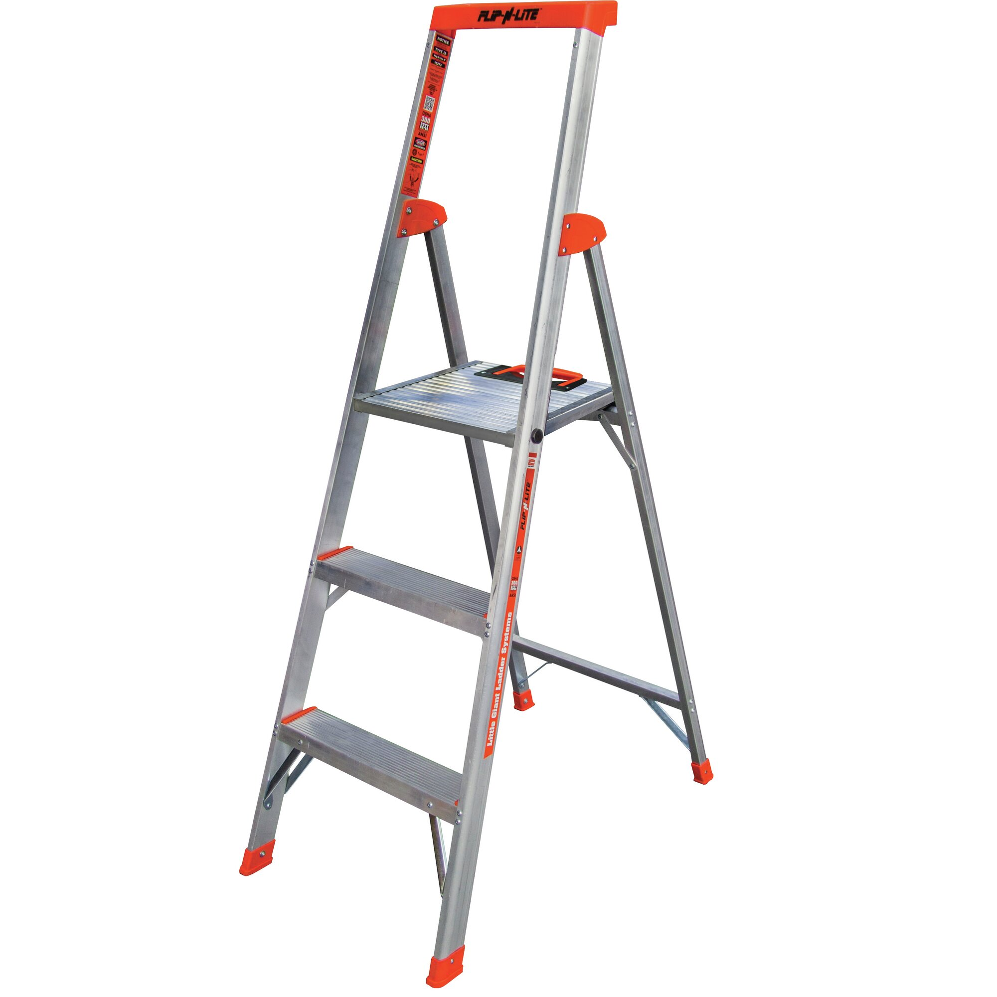 Little Giant Ladder 3 Step Aluminum Flip N Lite Type 1a