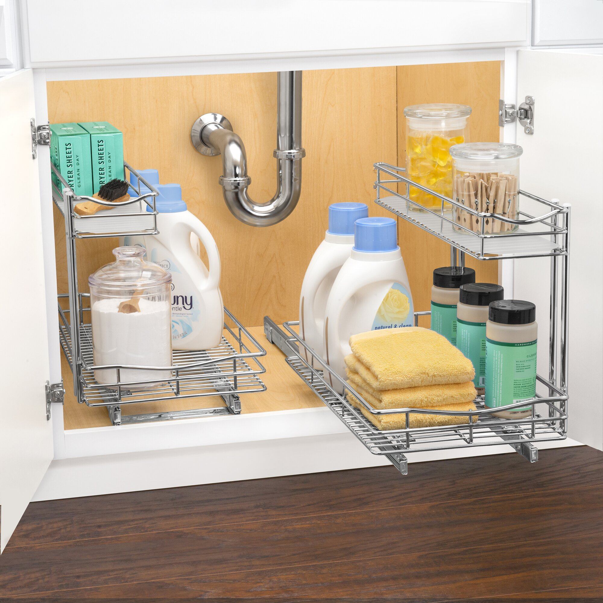 Lynk Roll Out Cabinet Organizer: Lynk Roll Out Under Sink Cabinet Organizer