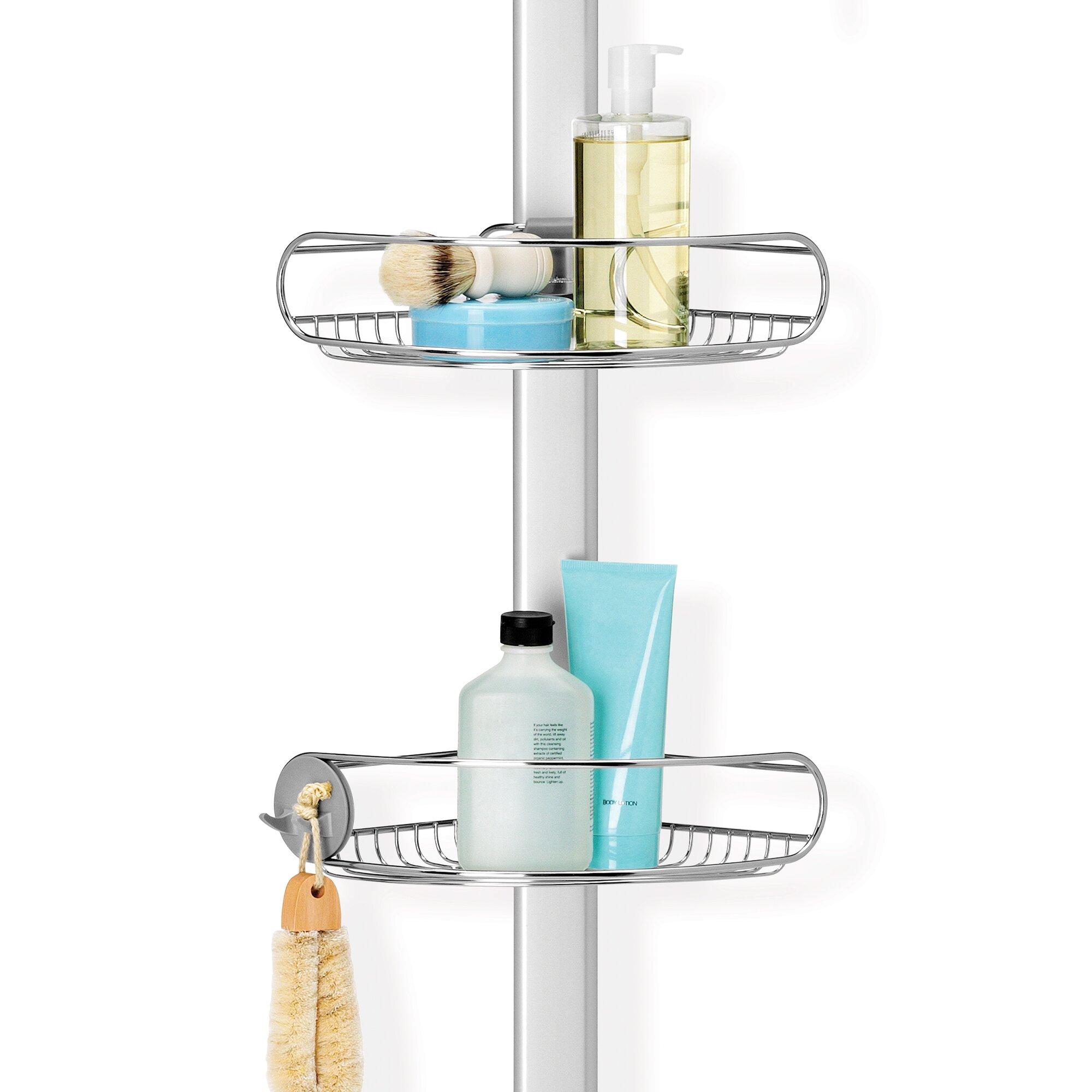 simplehuman adjustable tension shower caddy reviews wayfair adjustable tension shower caddy