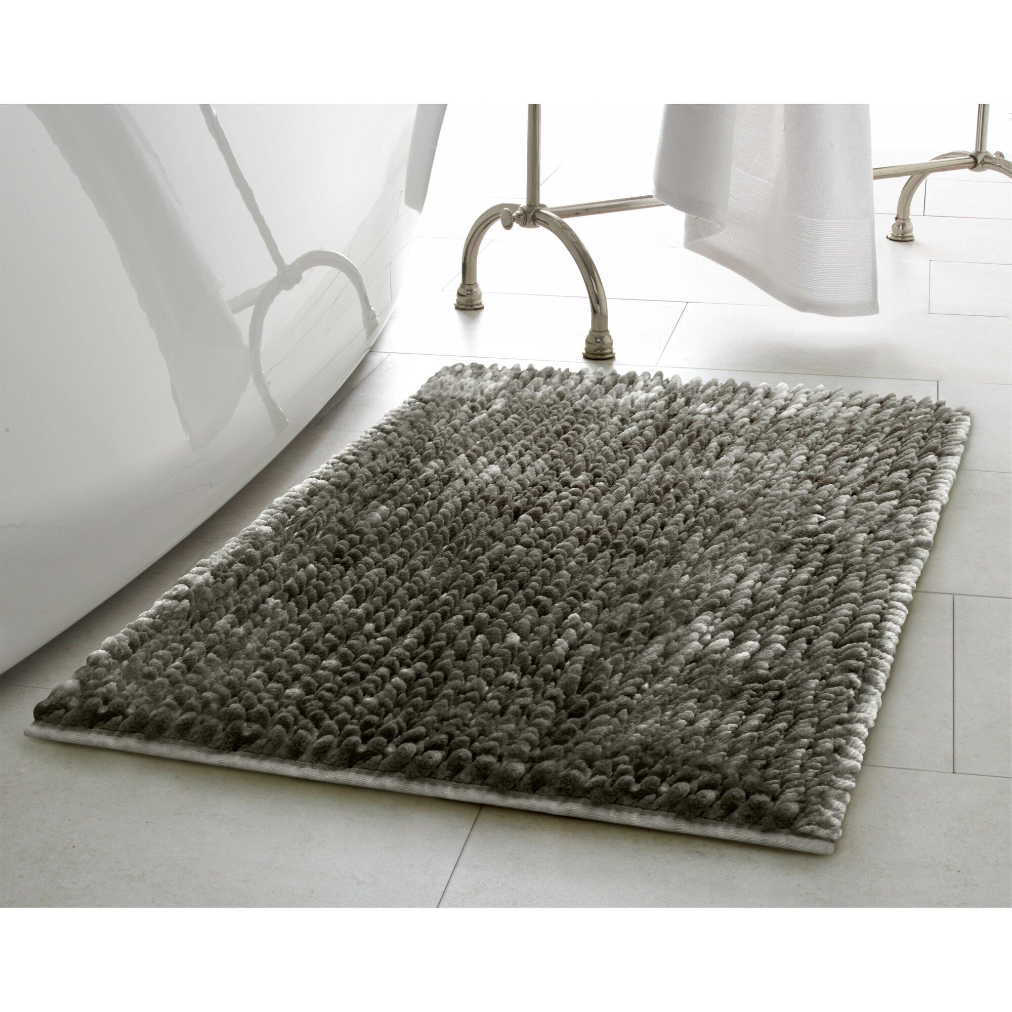 Silver Bathroom Rugs