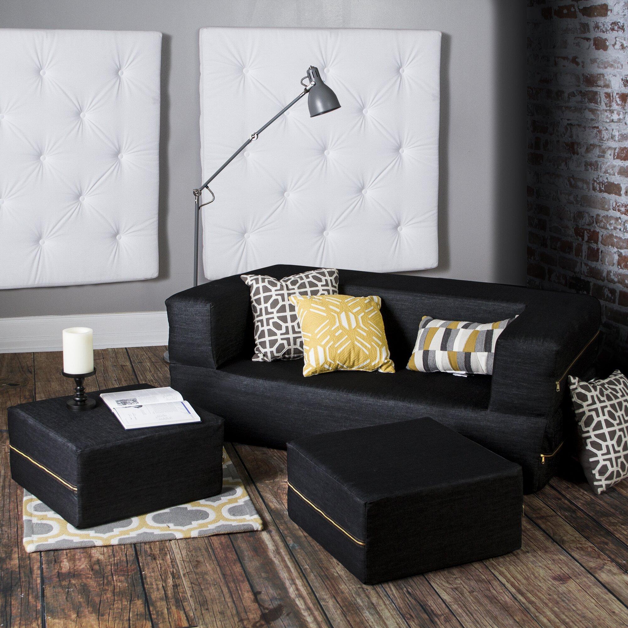 Denim Sofa Sectional Instasofas