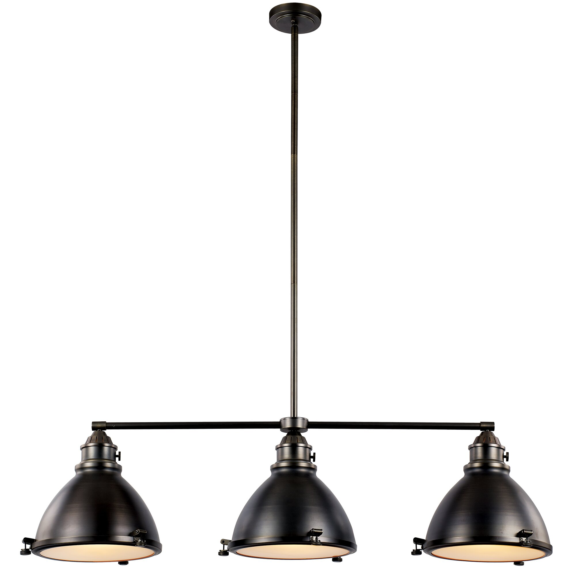 Laurel foundry modern farmhouse dewey 3 light kitchen for Modern kitchen light pendants