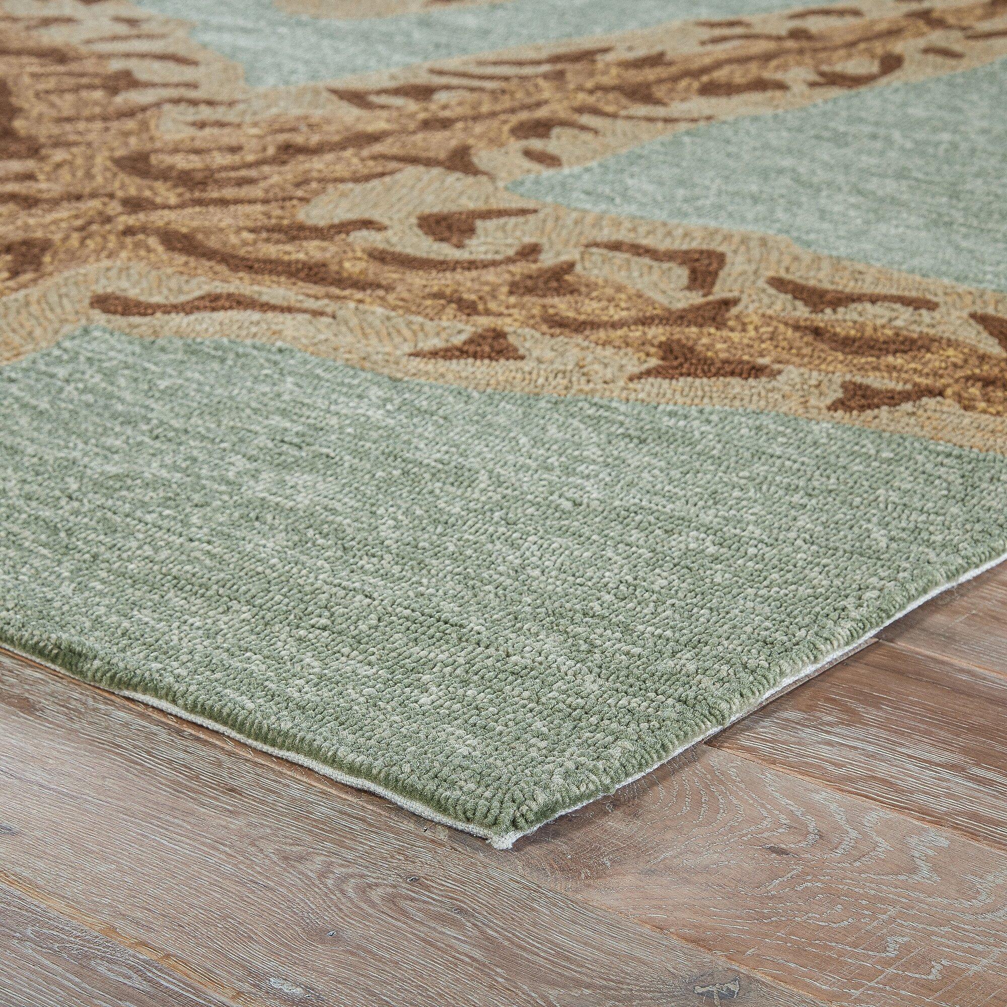 Beachcrest home osprey hand hooked silver lake indoor for Landscape indoor area rug