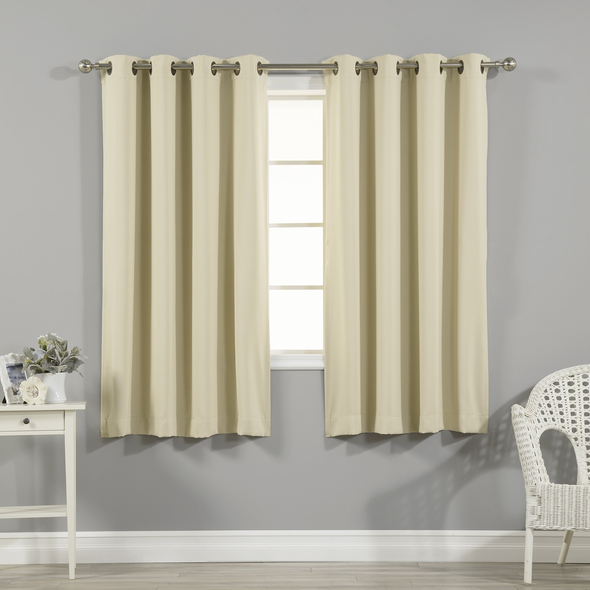 Best home fashion inc solid blackout thermal grommet for Grommet curtains