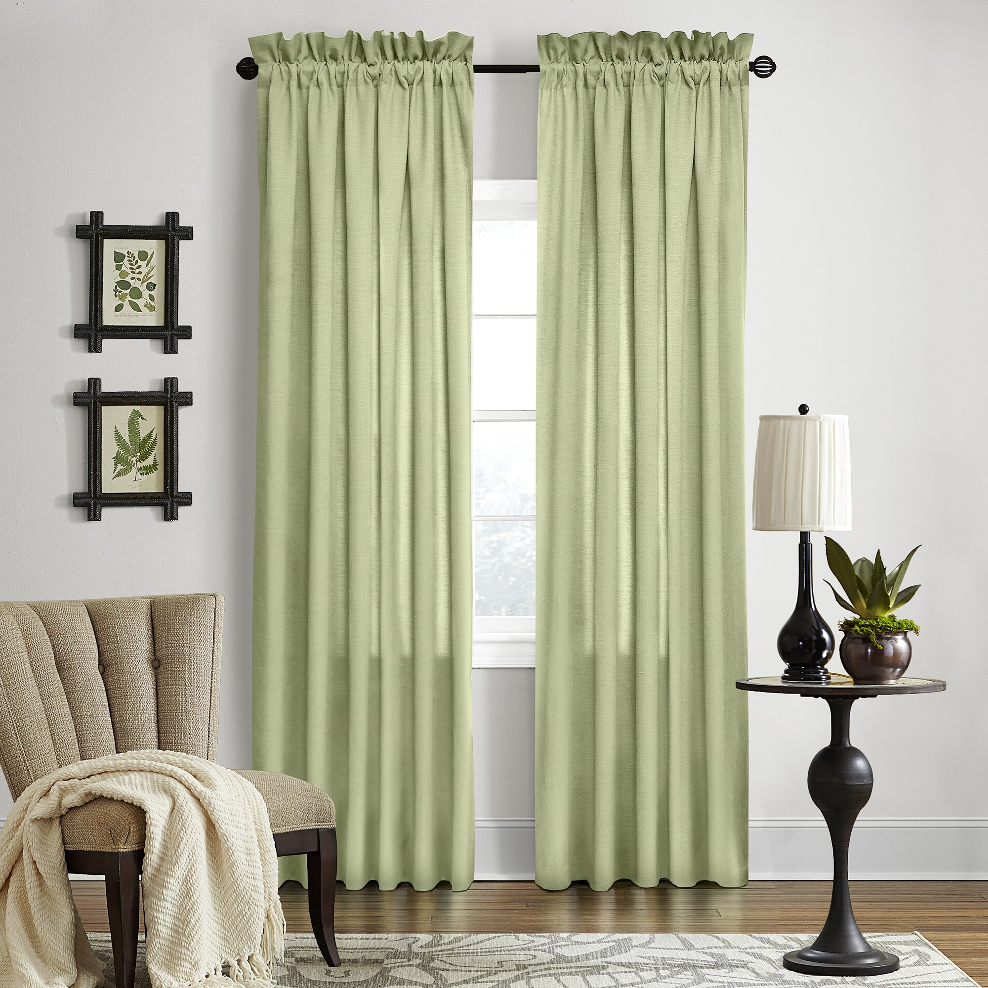 Three Posts Baremeadow Solid Sheer Grommet Single Curtain Panel Reviews